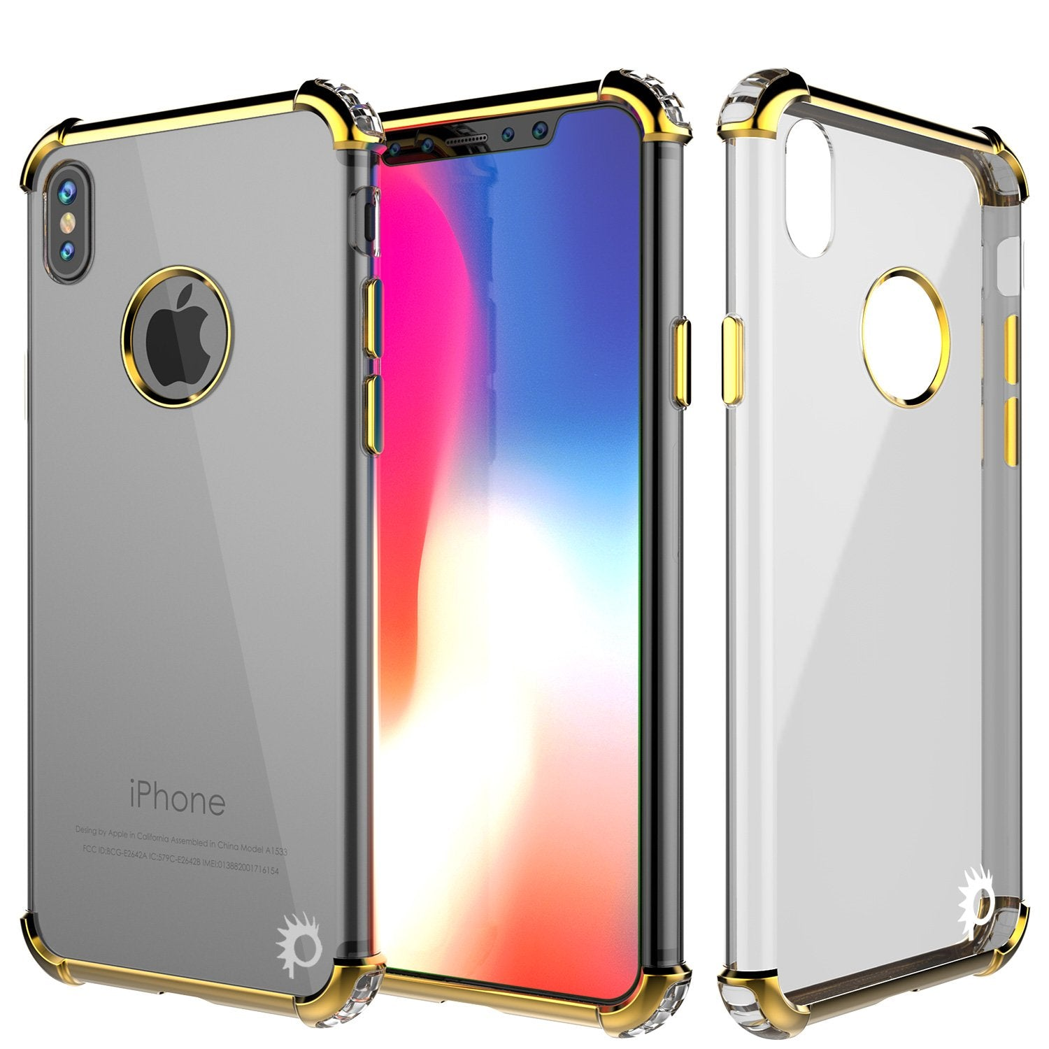 iPhone X Case, Punkcase [BLAZE SERIES] Protective Cover W/ PunkShield Screen Protector [Shockproof] [Slim Fit] for Apple iPhone 10 [Gold]