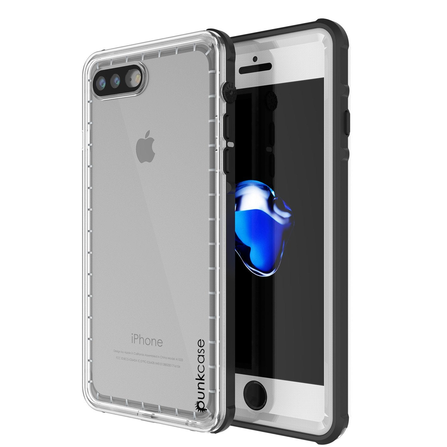 iPhone 7+ Plus Waterproof Case, PUNKcase CRYSTAL White W/ Attached Screen Protector  | Warranty