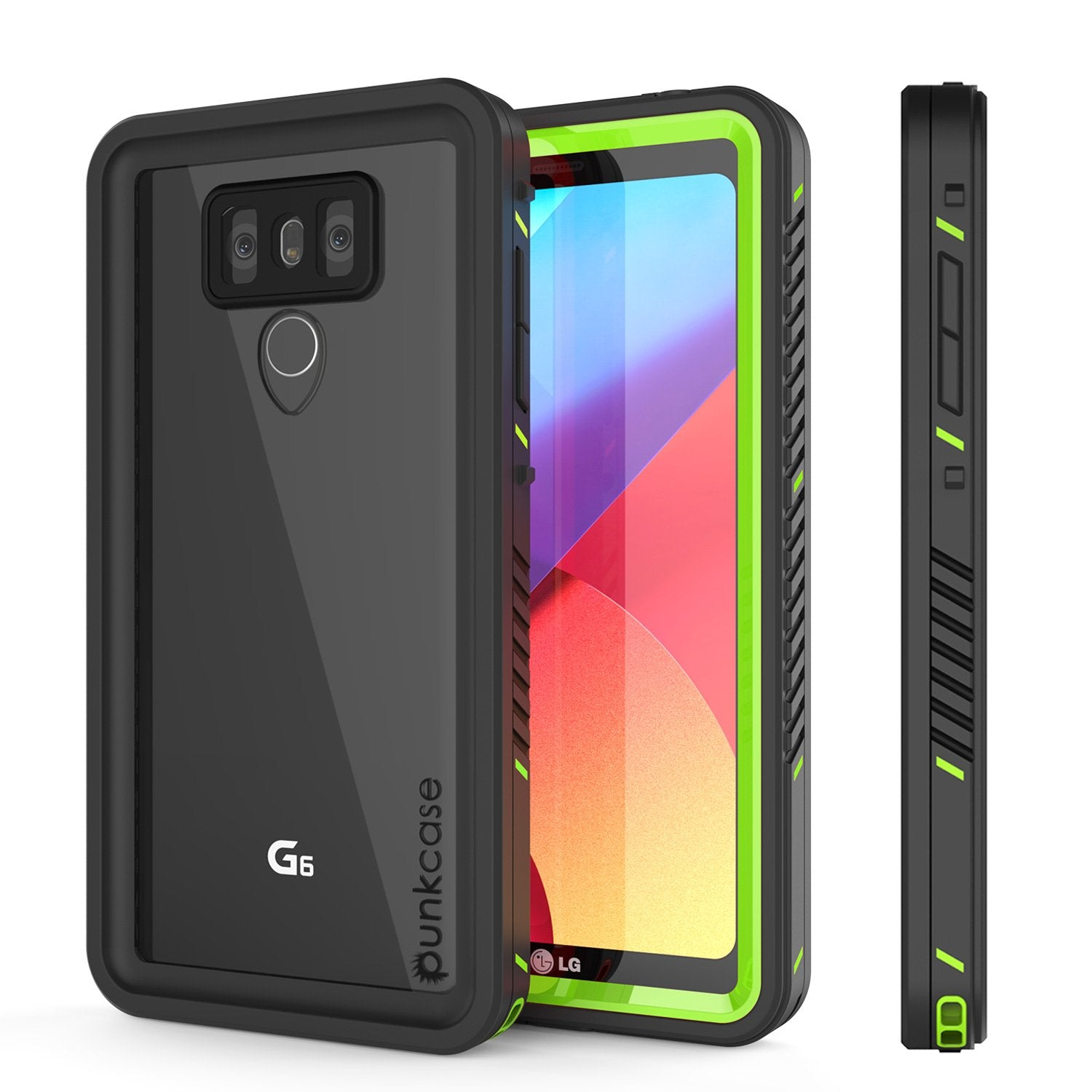 LG G6 Waterproof Case, Punkcase [Extreme Series] [Slim Fit] [IP68 Certified] [Shockproof] [Snowproof] [Dirproof] Armor Cover W/ Built In Screen Protector for LG G6 [GREEN]