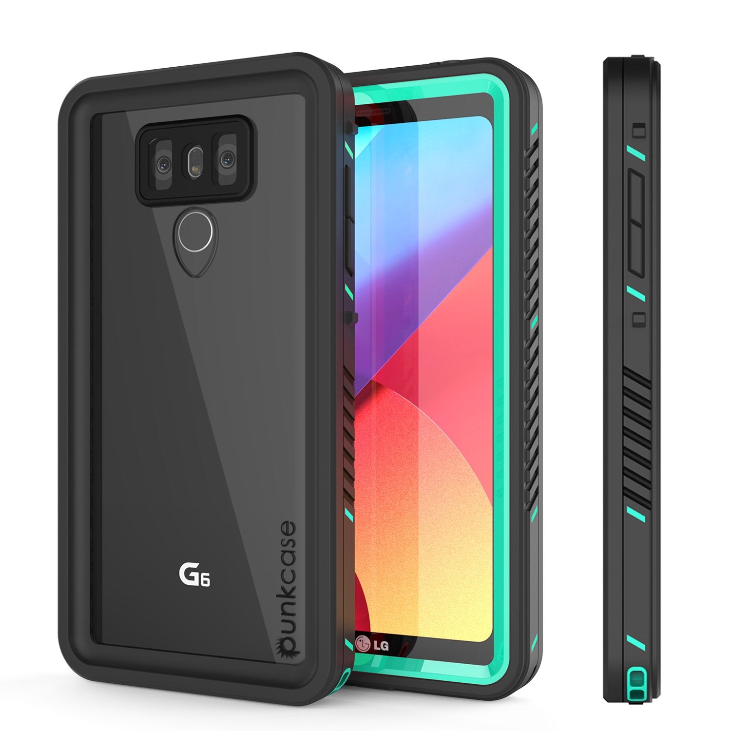 LG G6 Waterproof Case, Punkcase [Extreme Series] [Slim Fit] [IP68 Certified] [Shockproof] [Snowproof] [Dirproof] Armor Cover W/ Built In Screen Protector for LG G6 [TEAL]