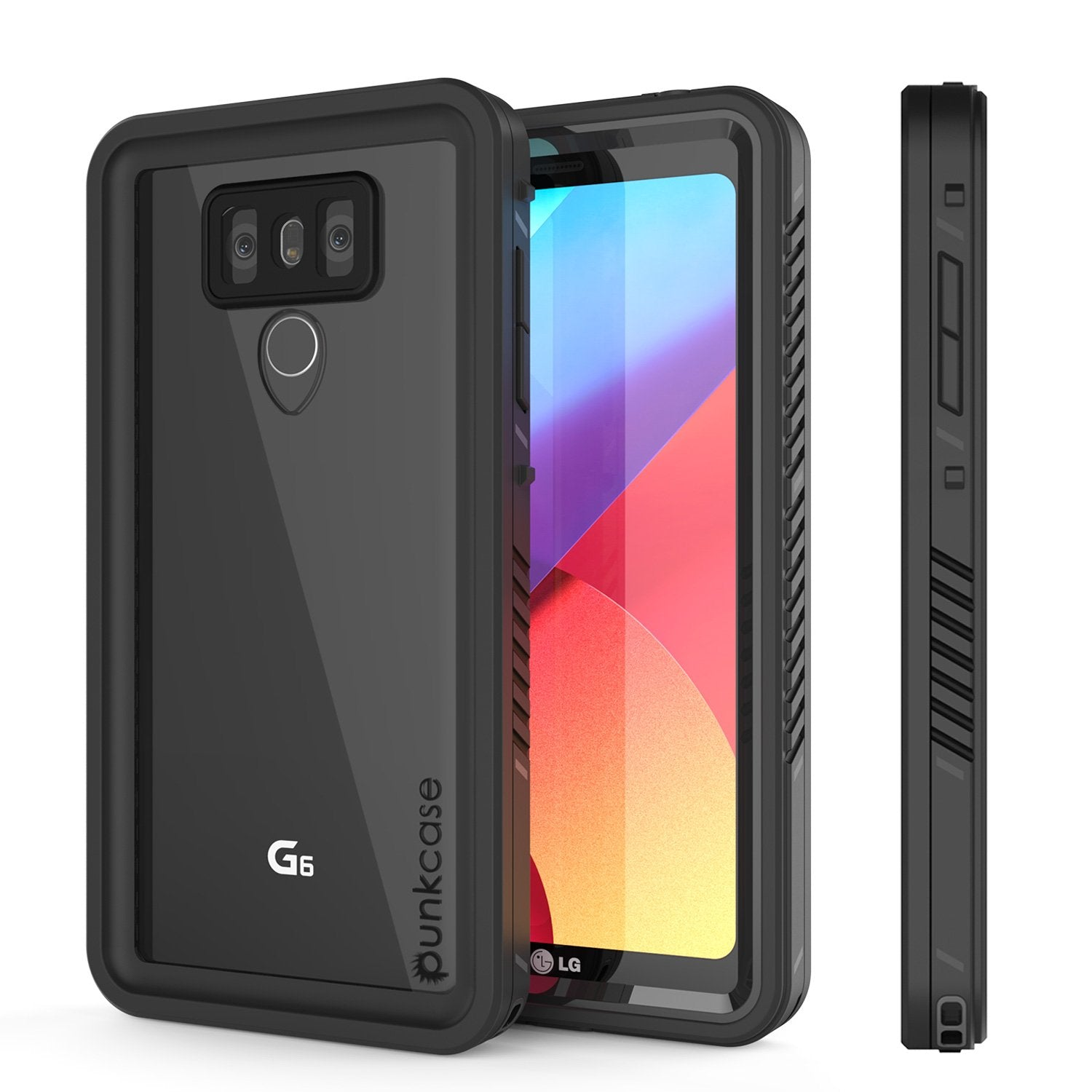 LG G6 Waterproof Case, Punkcase [Extreme Series] [Slim Fit] [IP68 Certified] [Shockproof] [Snowproof] [Dirproof] Armor Cover W/ Built In Screen Protector for LG G6 [BLACK]