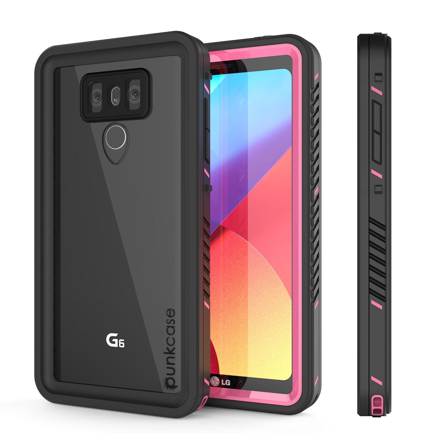 LG G6 Waterproof Case, Punkcase [Extreme Series] [Slim Fit] [IP68 Certified] [Shockproof] [Snowproof] [Dirproof] Armor Cover W/ Built In Screen Protector for LG G6 [PINK]