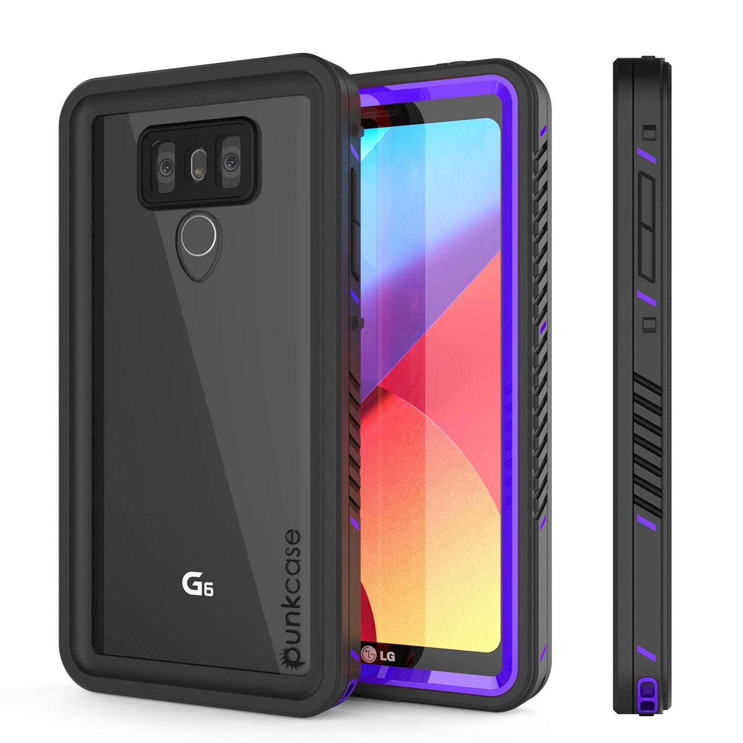 LG G6 Waterproof Case, Punkcase [Extreme Series] [Slim Fit] [IP68 Certified] [Shockproof] [Snowproof] [Dirproof] Armor Cover W/ Built In Screen Protector for LG G6 [PURPLE]