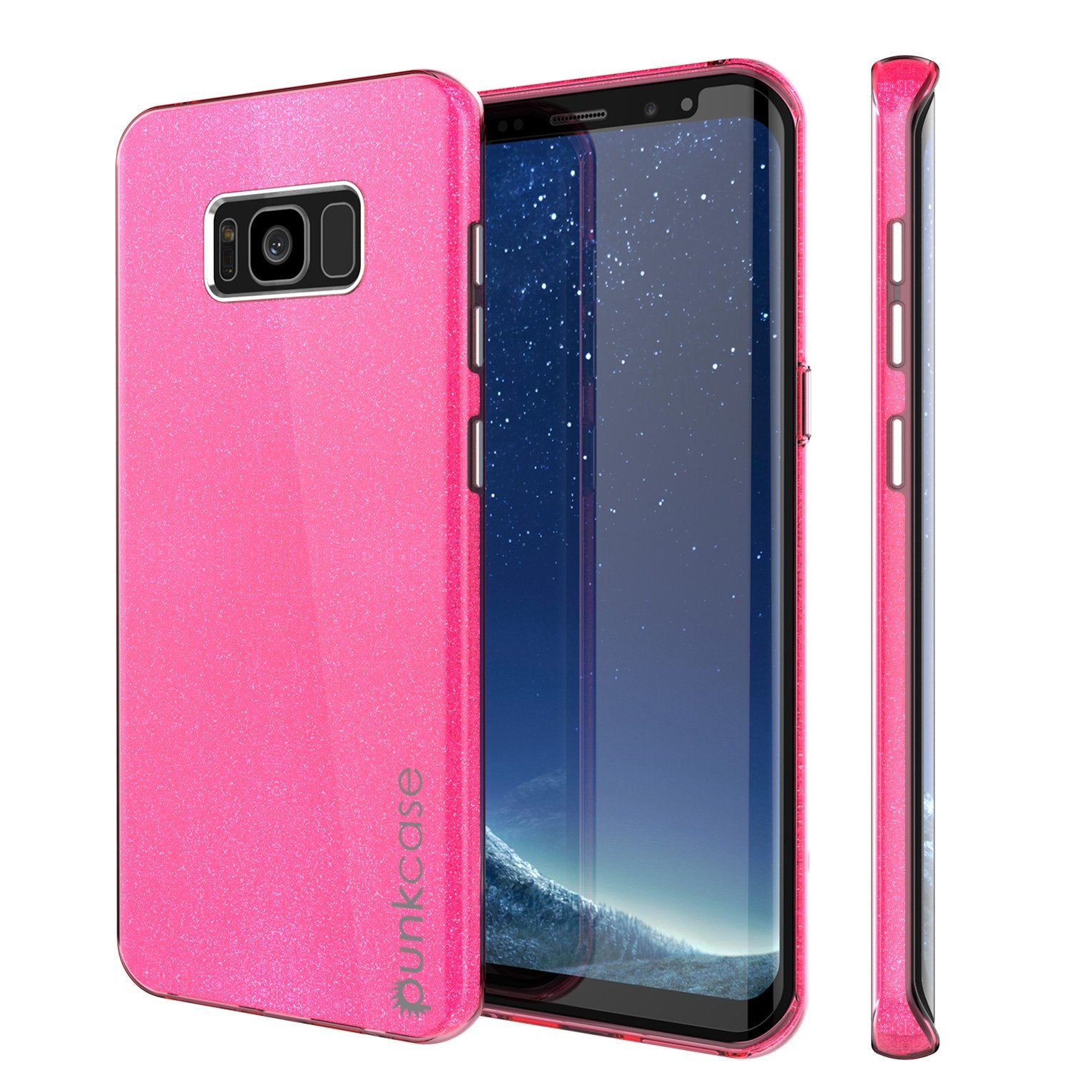 Galaxy S8 Plus Case, Punkcase Galactic 2.0 Series Ultra Slim Protective Armor TPU Cover [Pink]