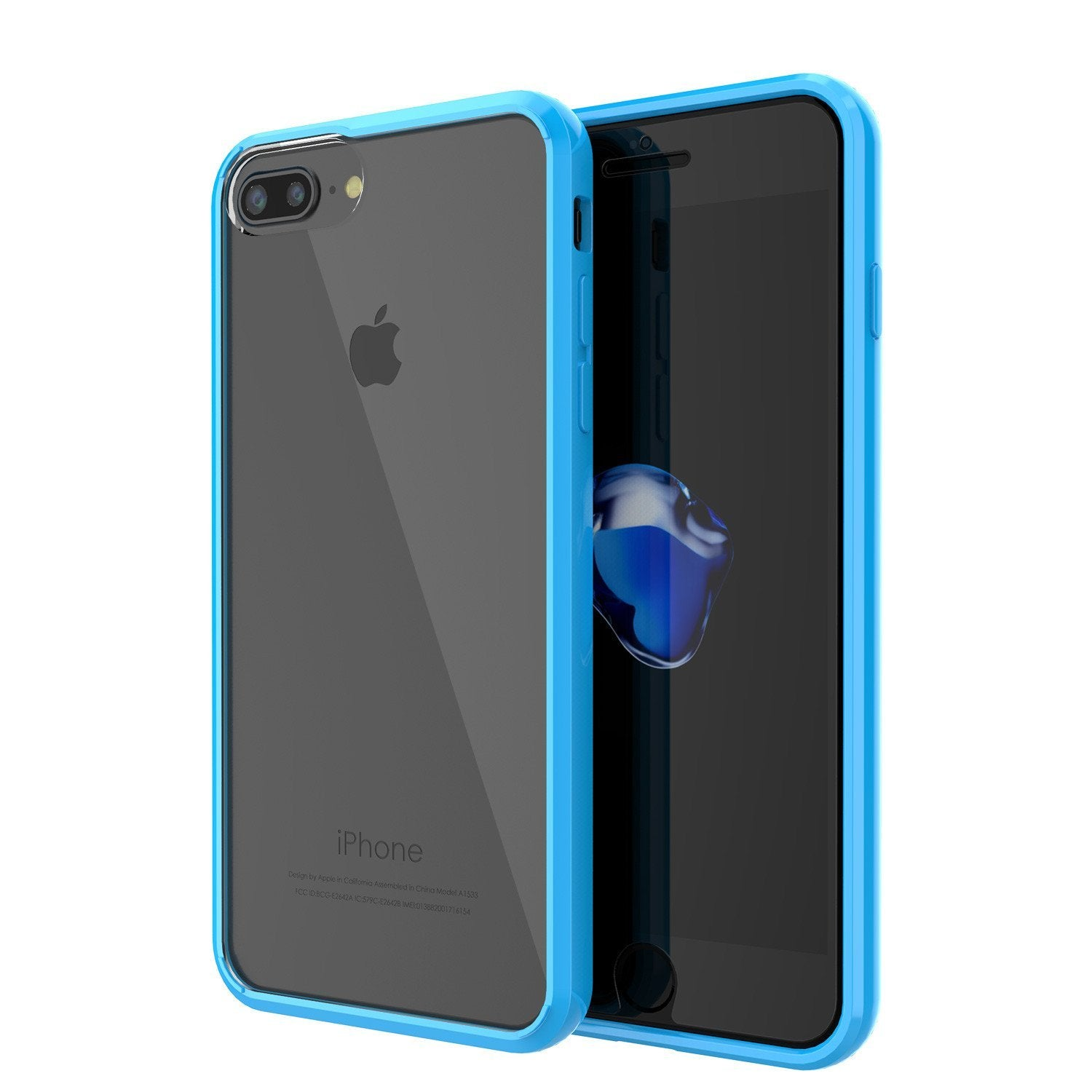 iPhone 8 Case Punkcase® LUCID 2.0 Light Blue Series w/ PUNK SHIELD Screen Protector | Ultra Fit - PunkCase NZ