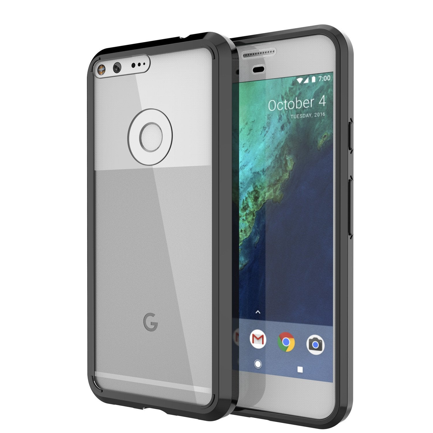 Google Pixel XL Case Punkcase® LUCID 2.0 Black Series w/ PUNK SHIELD Glass Screen Protector | Ultra Fit