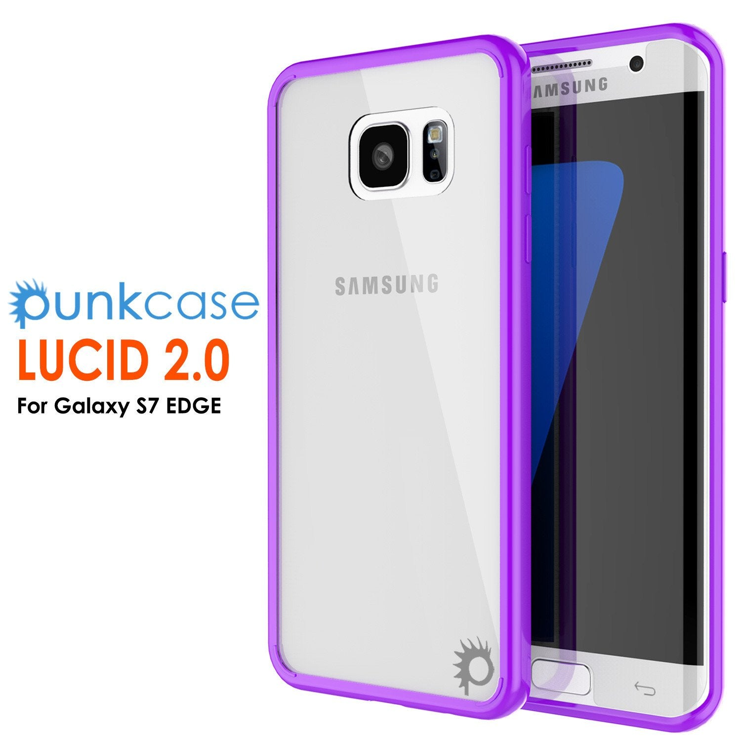 S7 Edge Case Punkcase® LUCID 2.0 Purple Series w/ PUNK SHIELD Screen Protector | Ultra Fit - PunkCase NZ