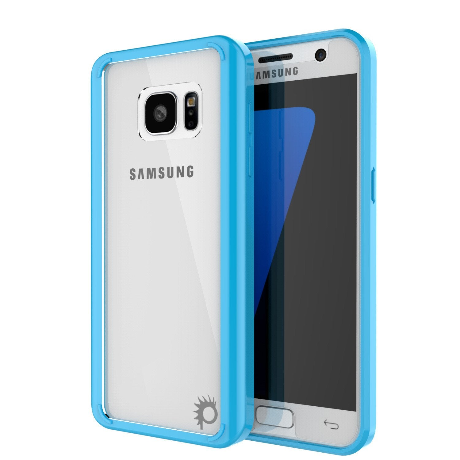 S7 Case Punkcase® LUCID 2.0 Light Blue Series w/ PUNK SHIELD Glass Screen Protector | Ultra Fit