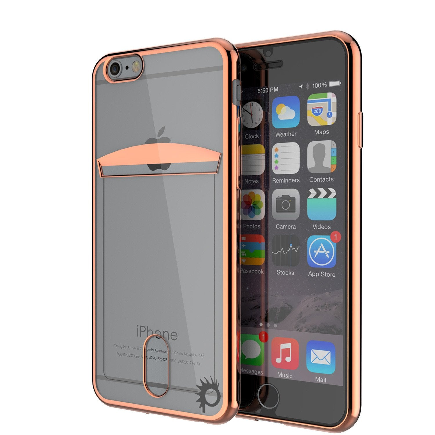 iPhone 6s/6 Case, PUNKCASE® LUCID Rose Gold Series | Card Slot | SHIELD Screen Protector | Ultra fit - PunkCase NZ