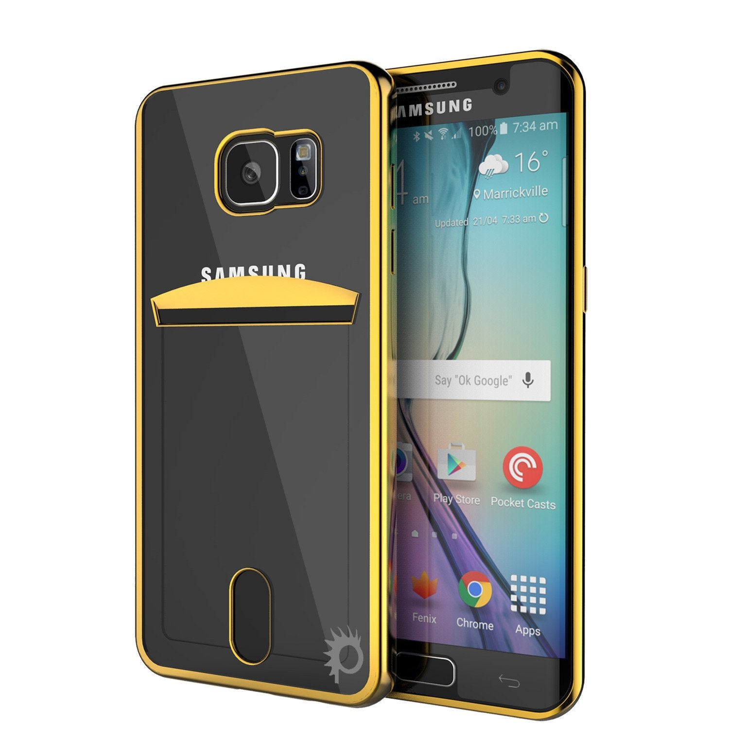 Galaxy S6 EDGE+ Plus Case, PUNKCASE® LUCID Gold Series | Card Slot | SHIELD Screen Protector - PunkCase NZ