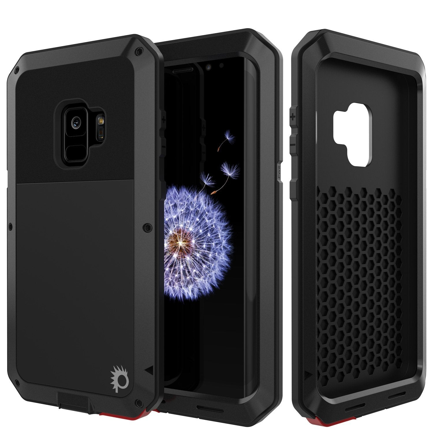 Galaxy S10e Metal Case, Heavy Duty Military Grade Rugged Armor Cover [Black]