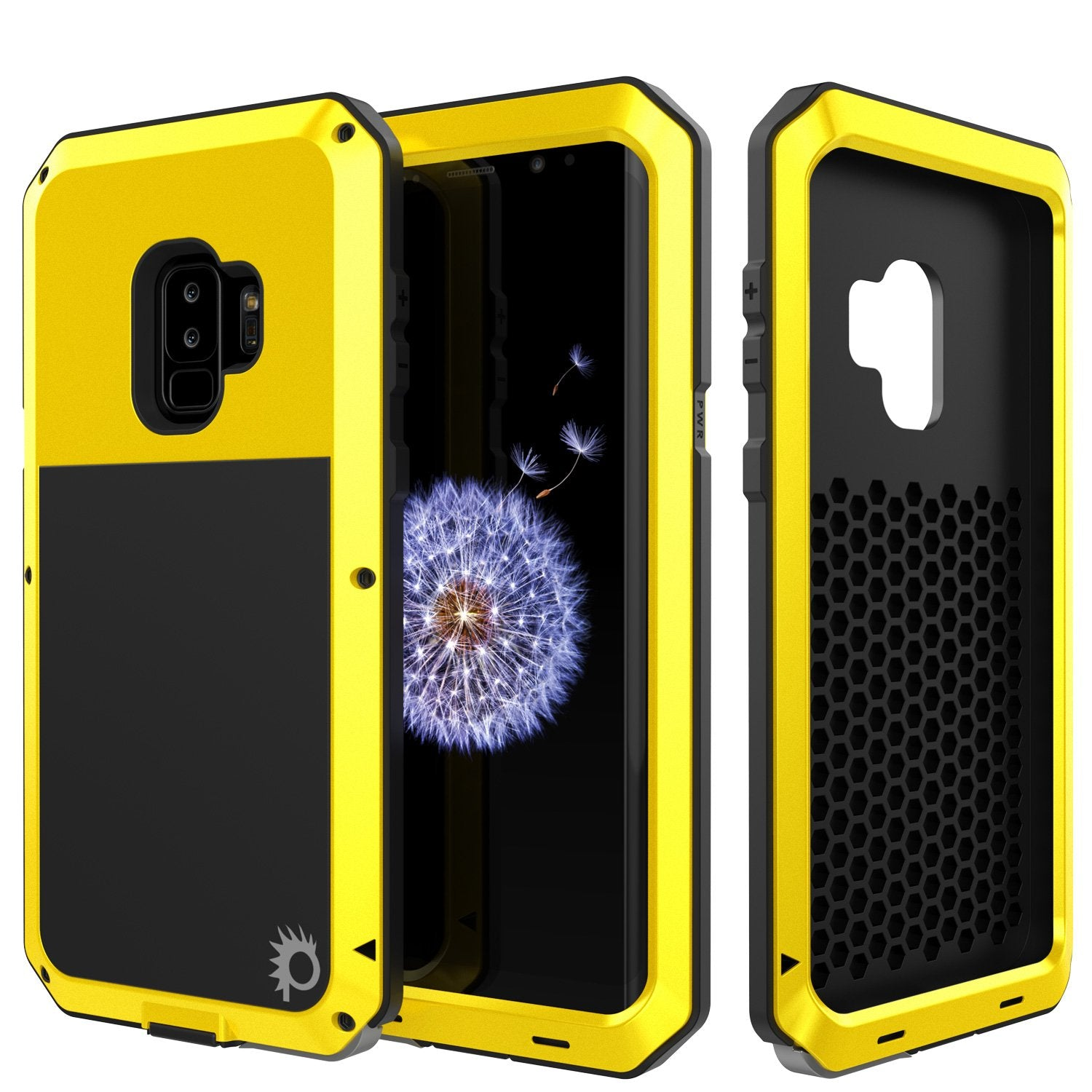 Galaxy S9 Plus Metal Case, Heavy Duty Military Grade Rugged Armor Cover [shock proof] Hybrid Full Body Hard Aluminum & TPU Design [non slip] W/ Prime Drop Protection for Samsung Galaxy S9 Plus [Neon]