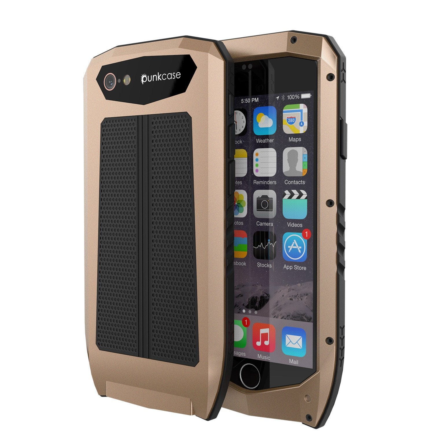 iPhone 6s/6 Case, Punkcase Metallic PRO Gold Series Cover W/ Attached Screen Protector | Touch-ID - PunkCase NZ