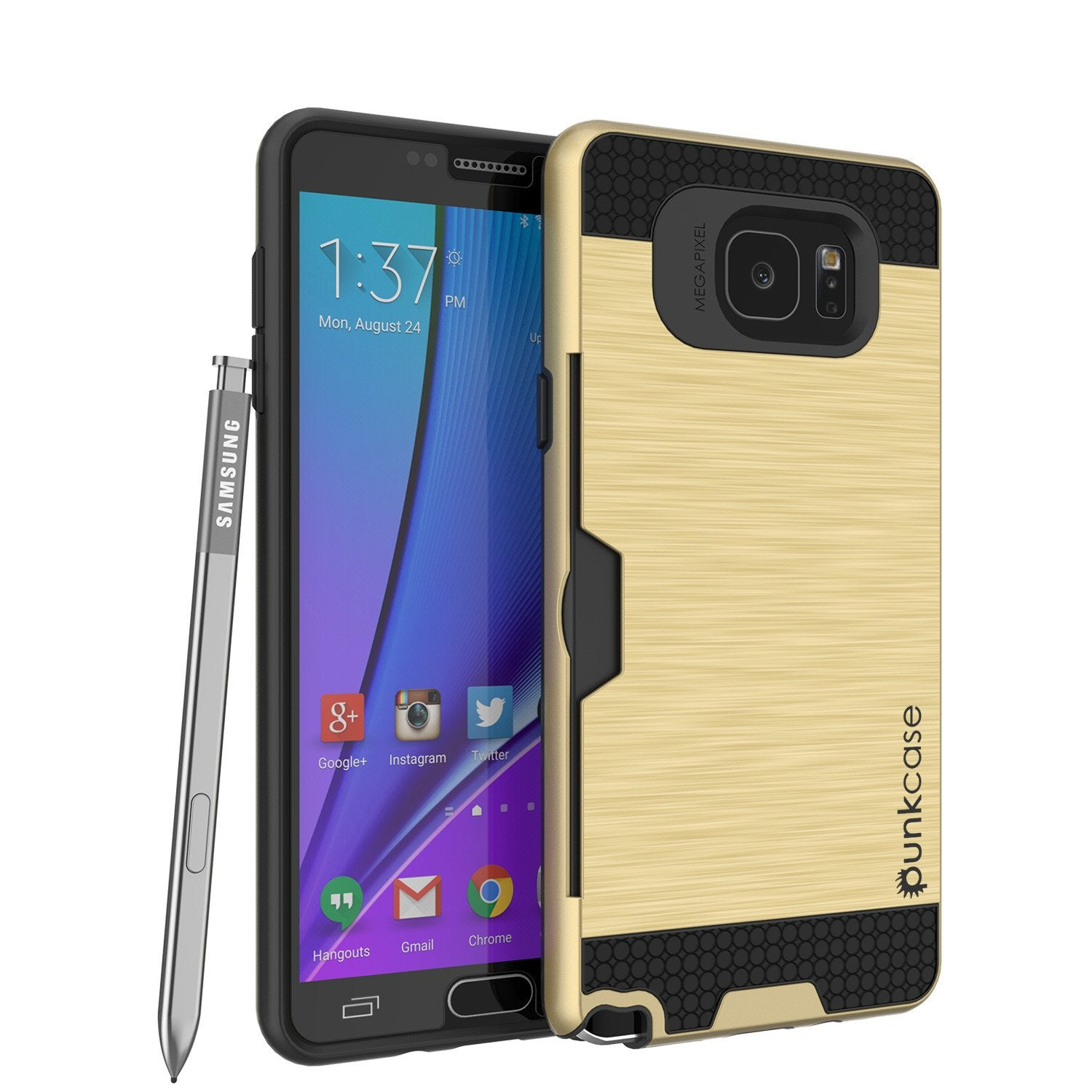 Galaxy Note 5 Case PunkCase SLOT Gold Series Slim Armor Soft Cover Case w/ Tempered Glass - PunkCase NZ
