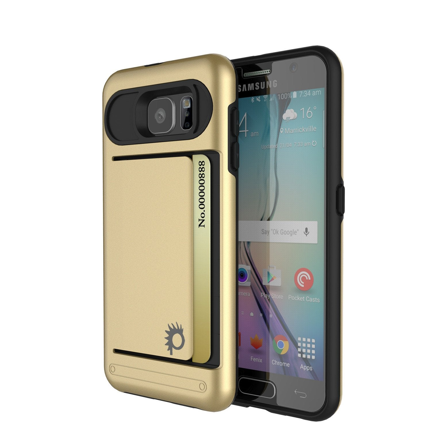 Galaxy s6 Case PunkCase CLUTCH Gold Series Slim Armor Soft Cover Case w/ Tempered Glass - PunkCase NZ
