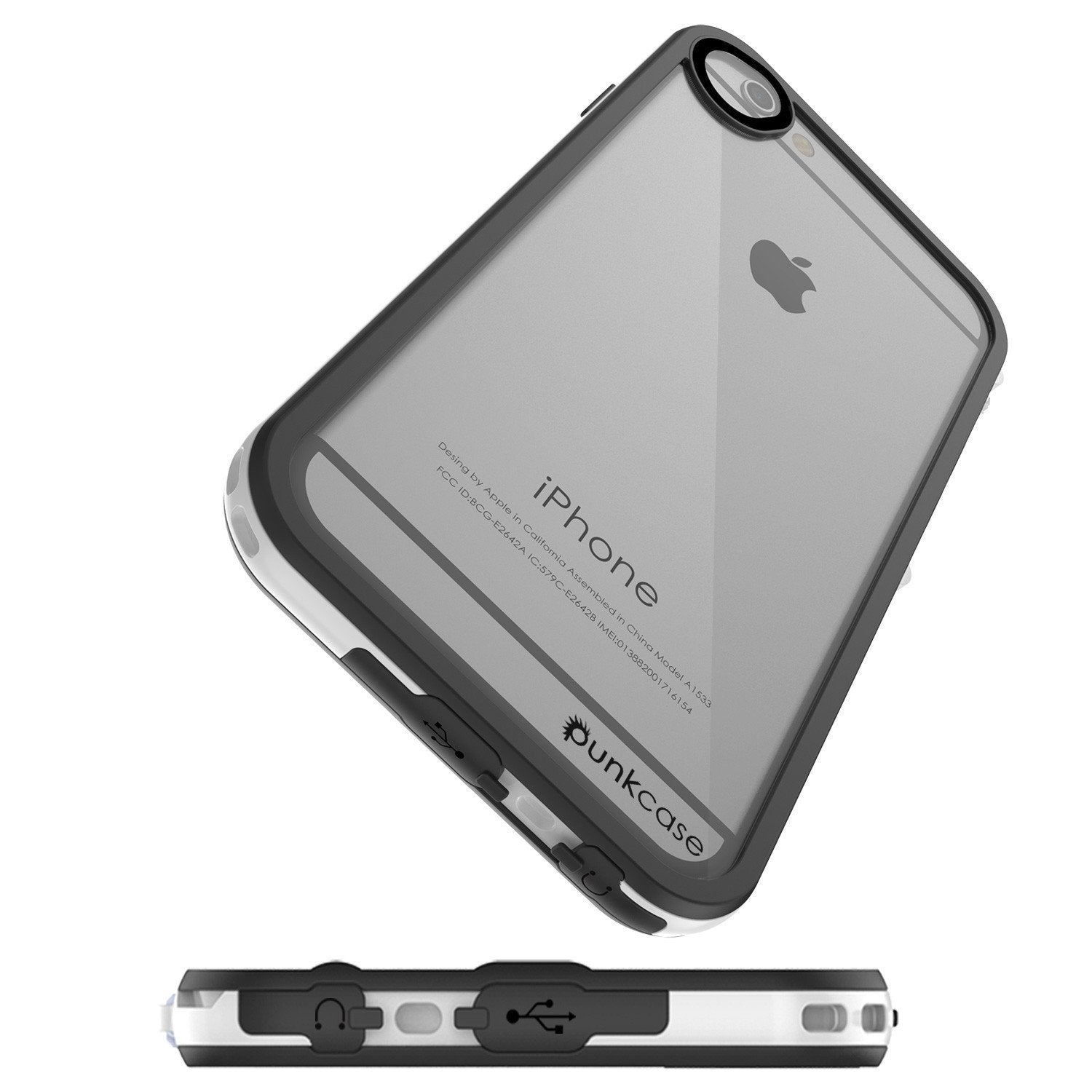 Apple iPhone 8 Waterproof Case, PUNKcase CRYSTAL 2.0 White W/ Attached Screen Protector  | Warranty - PunkCase NZ