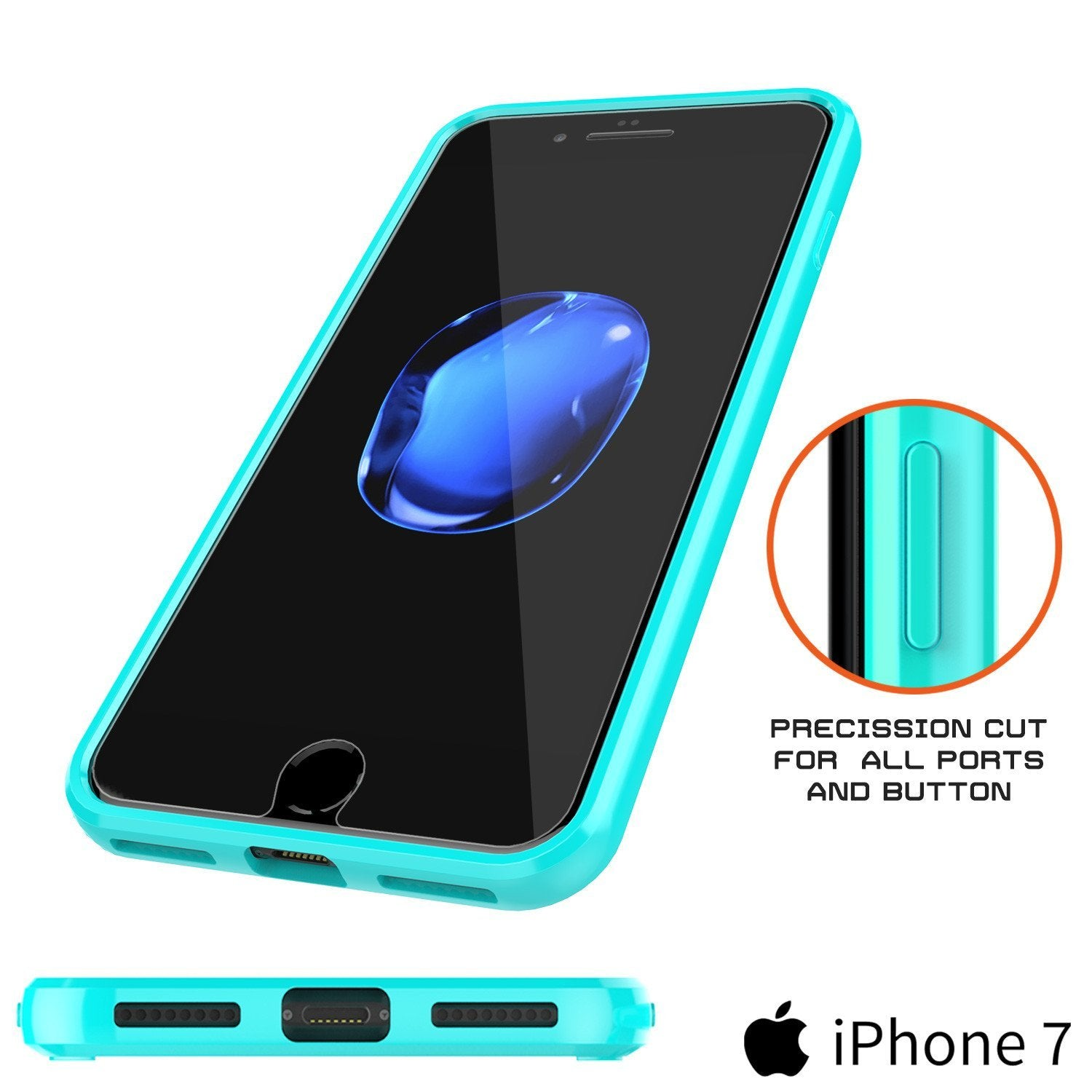 iPhone 8 Case Punkcase® LUCID 2.0 Teal Series w/ PUNK SHIELD Screen Protector | Ultra Fit - PunkCase NZ