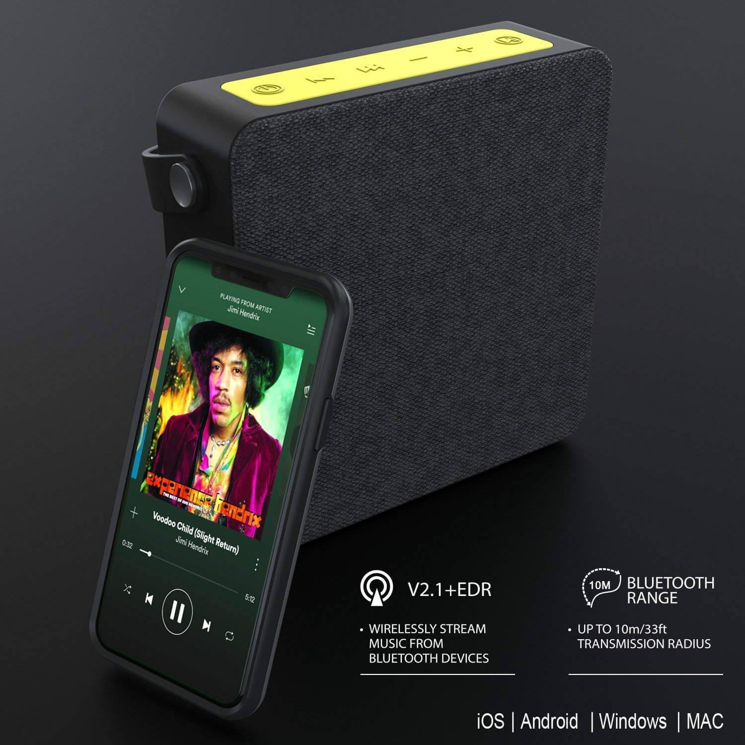 PUNKBOX Portable Wireless Bluetooth Speaker, Loud & Powerful for iPhone/Android [black] - PunkCase NZ