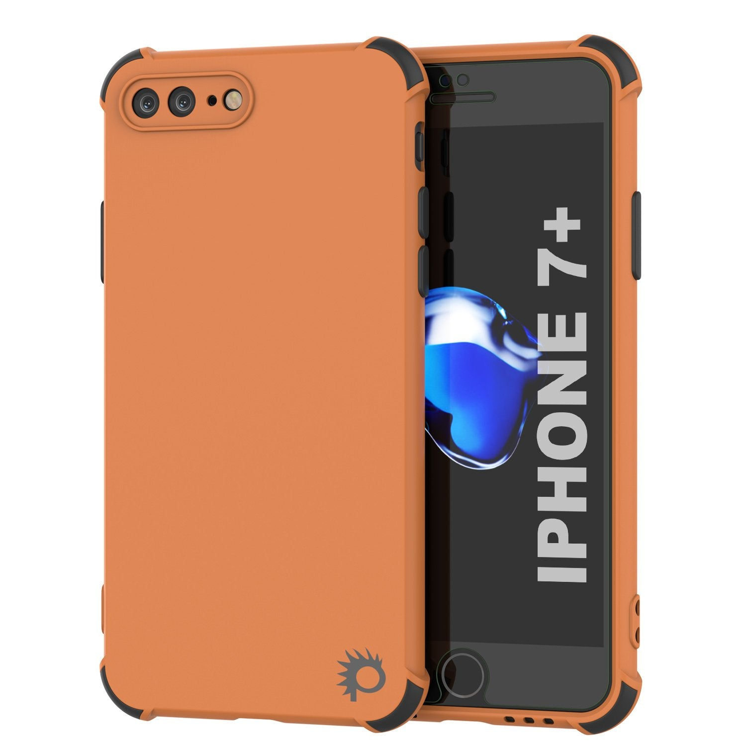 Punkcase Protective & Lightweight TPU Case [Sunshine Series] for iPhone 7+ Plus [Orange]