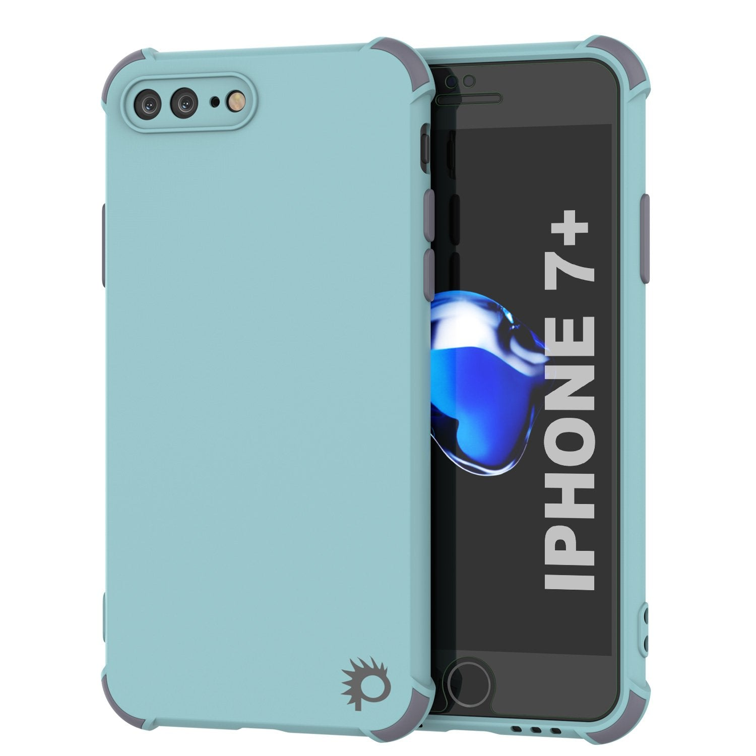 Punkcase Protective & Lightweight TPU Case [Sunshine Series] for iPhone 7+ Plus [Teal]