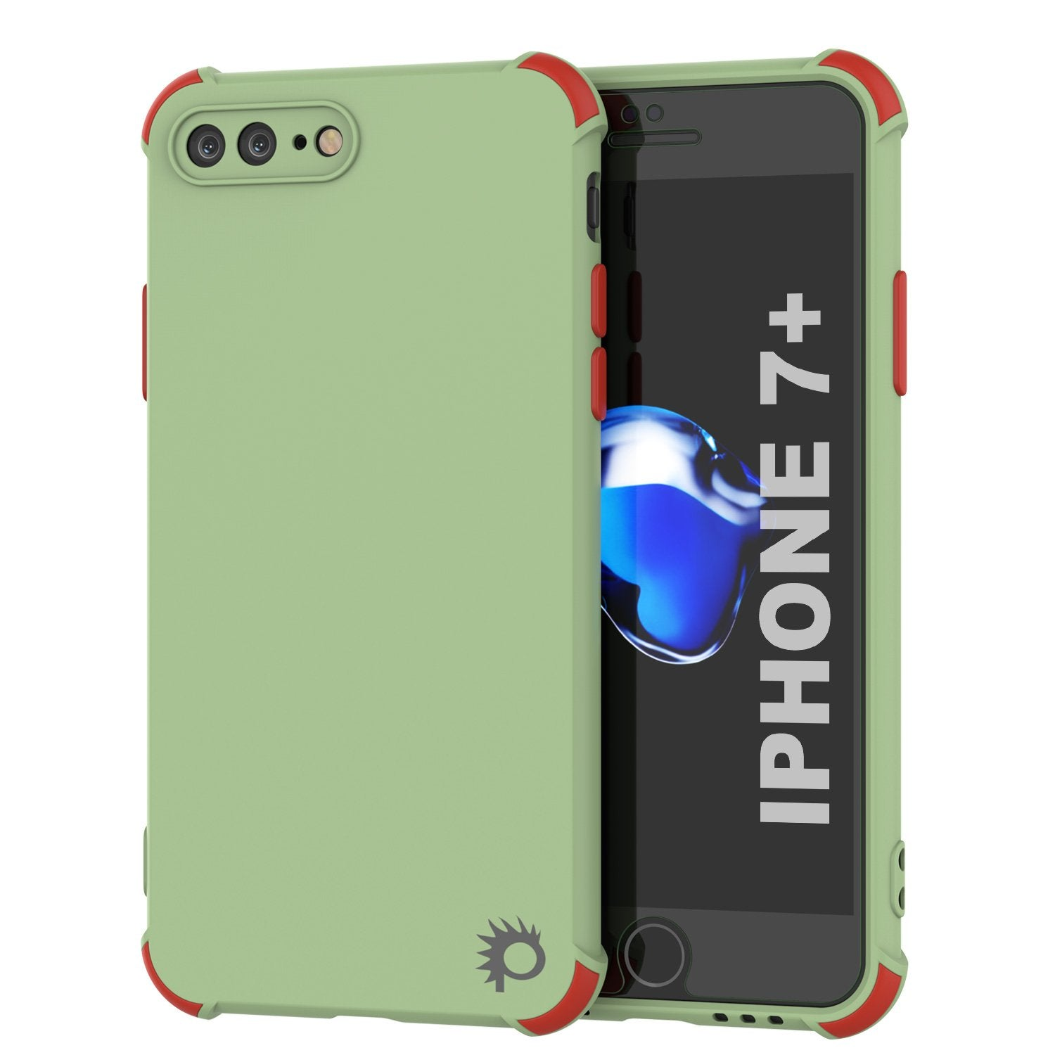 Punkcase Protective & Lightweight TPU Case [Sunshine Series] for iPhone 7+ Plus [Light Green]