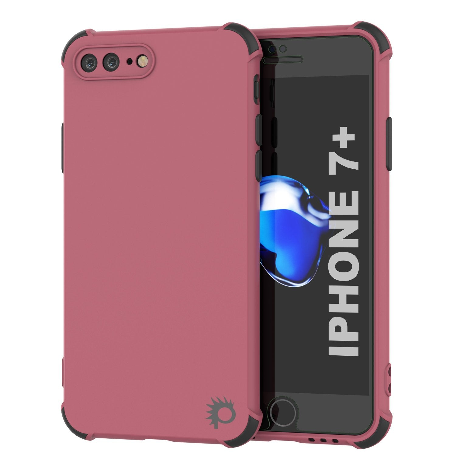 Punkcase Protective & Lightweight TPU Case [Sunshine Series] for iPhone 7+ Plus [Rose]