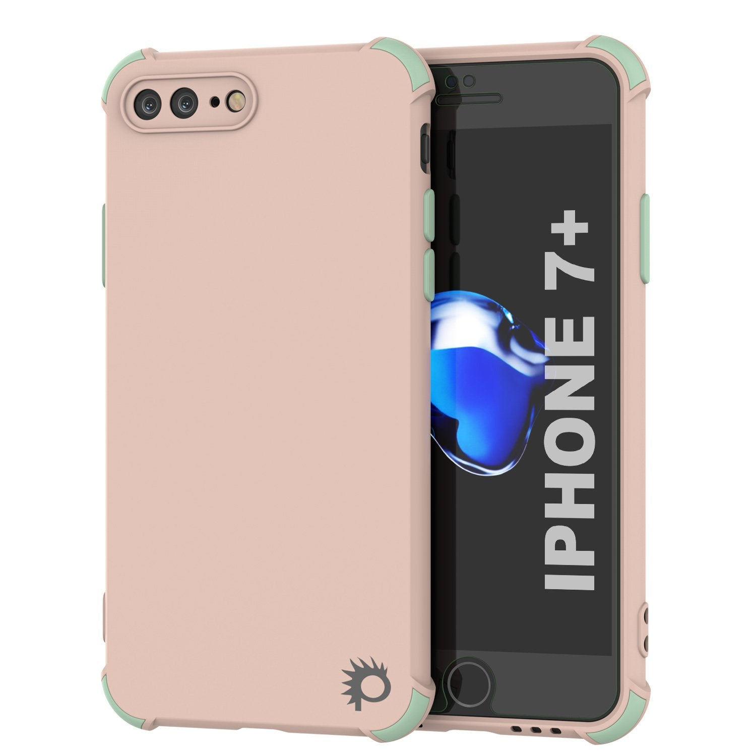 Punkcase Protective & Lightweight TPU Case [Sunshine Series] for iPhone 7+ Plus [Pink]
