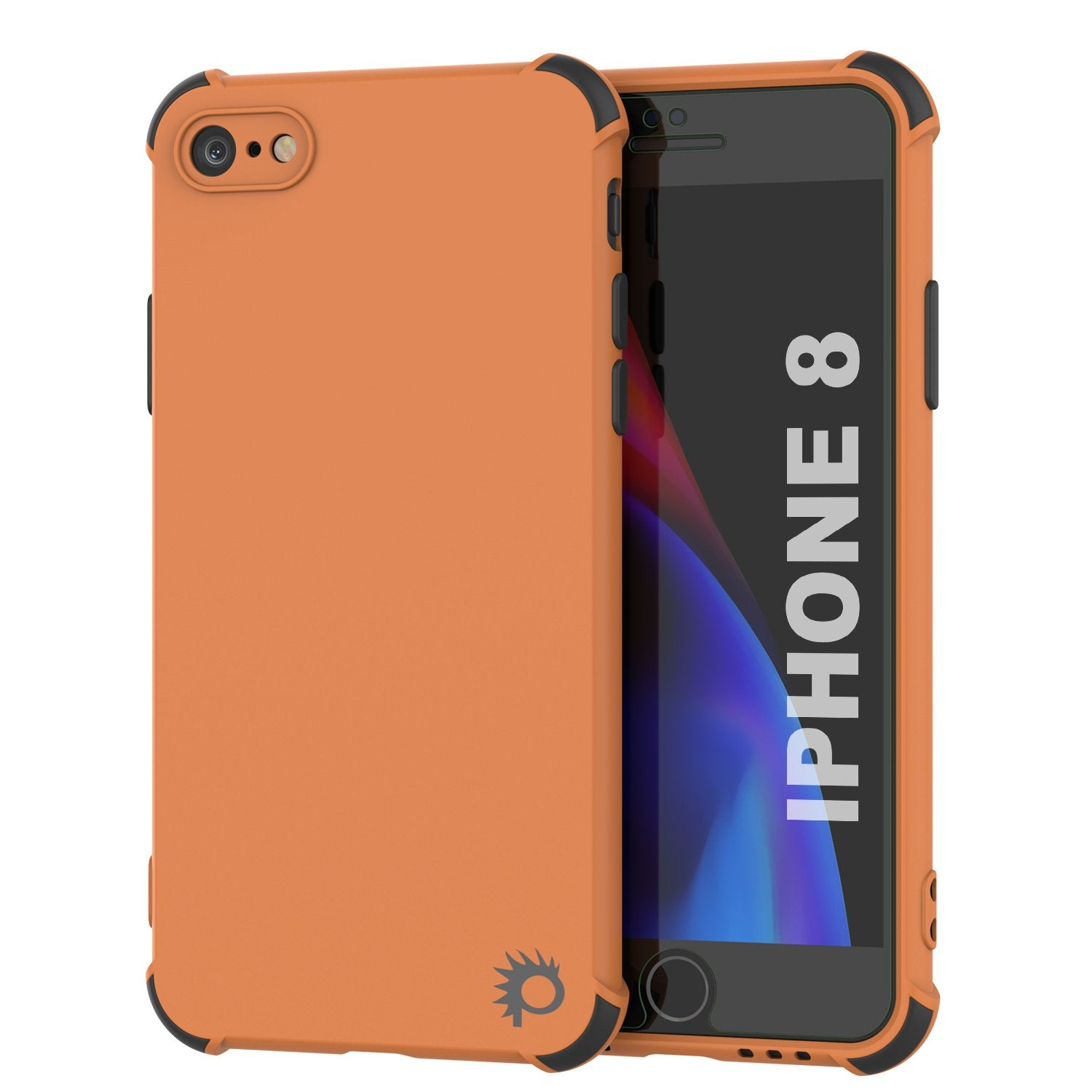 Punkcase Protective & Lightweight TPU Case [Sunshine Series] for iPhone 8 [Orange]
