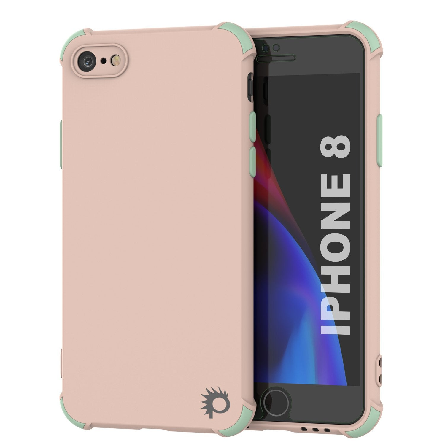 Punkcase Protective & Lightweight TPU Case [Sunshine Series] for iPhone 8 [Light Green]