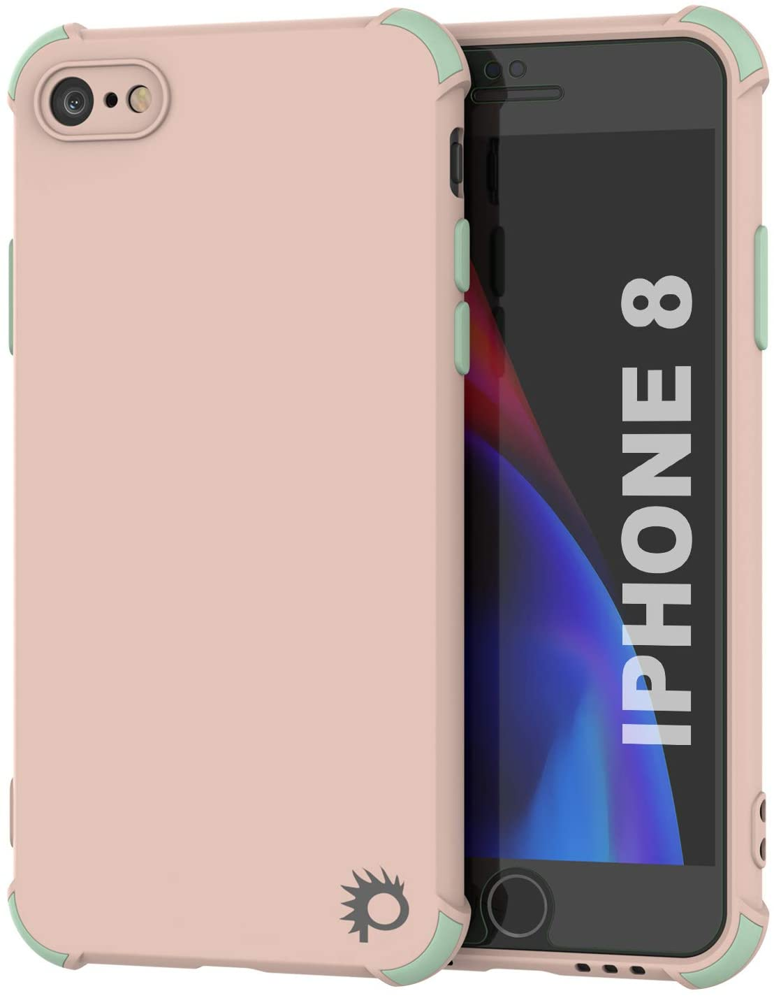 Punkcase Protective & Lightweight TPU Case [Sunshine Series] for iPhone 8 [Pink]