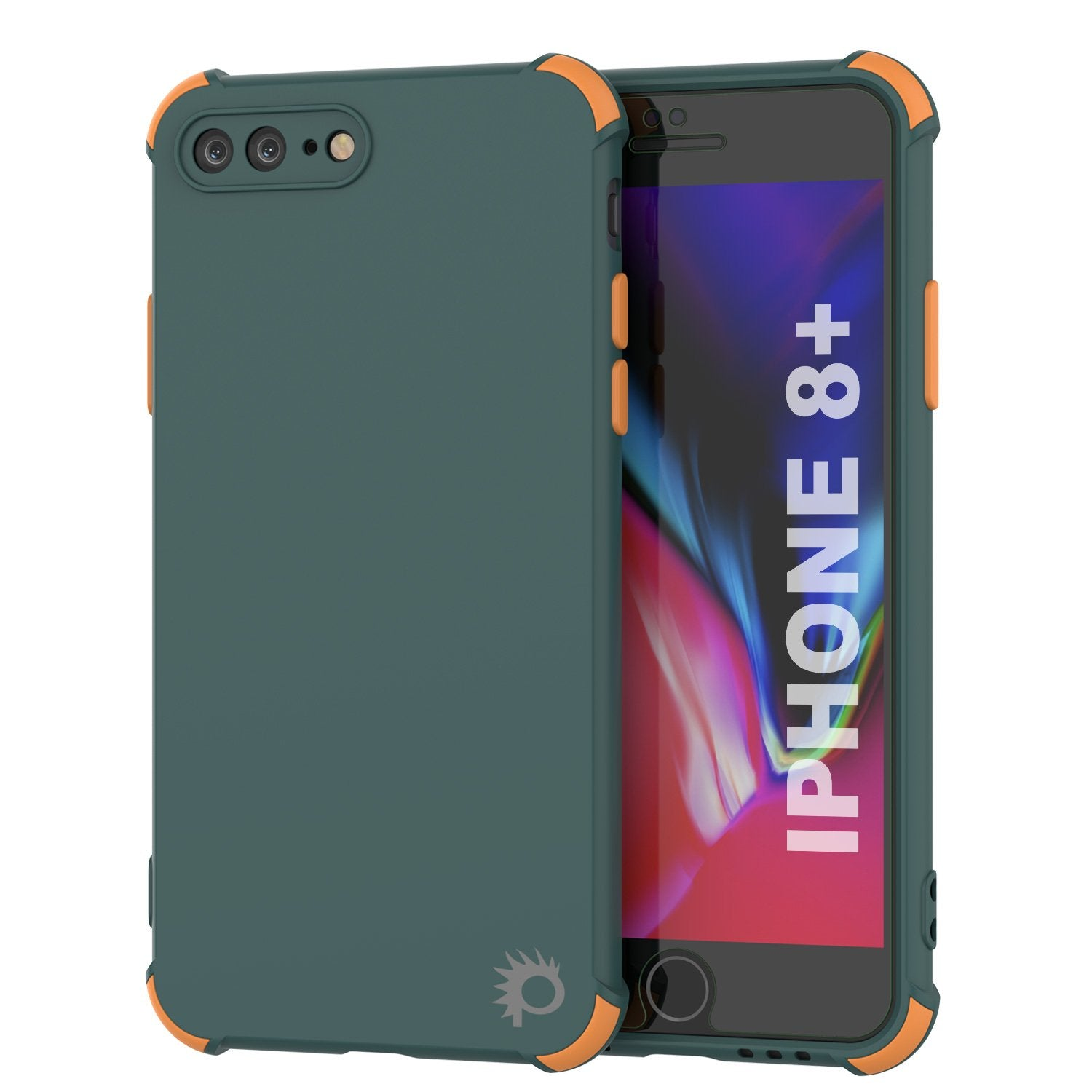 Punkcase Protective & Lightweight TPU Case [Sunshine Series] for iPhone 8+ Plus [Dark Green]