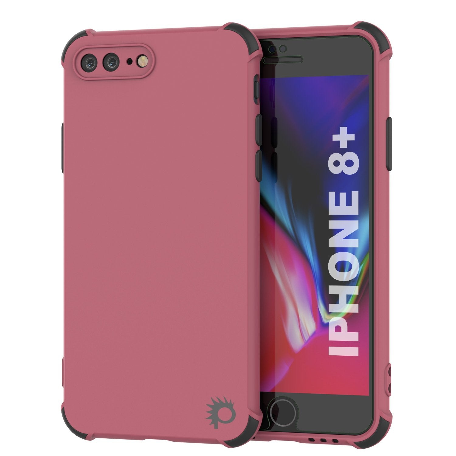 Punkcase Protective & Lightweight TPU Case [Sunshine Series] for iPhone 8+ Plus [Rose]