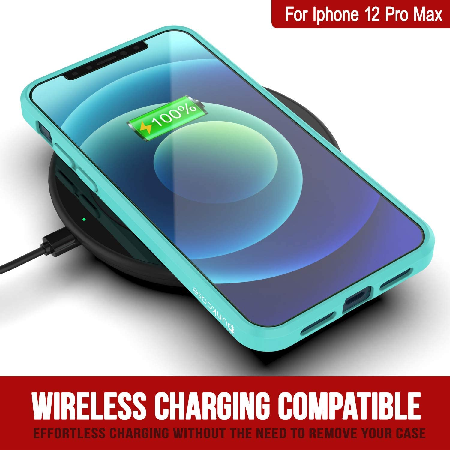 iPhone 12 Pro Max Case Punkcase® LUCID 2.0 Teal Series w/ PUNK SHIELD Screen Protector | Ultra Fit