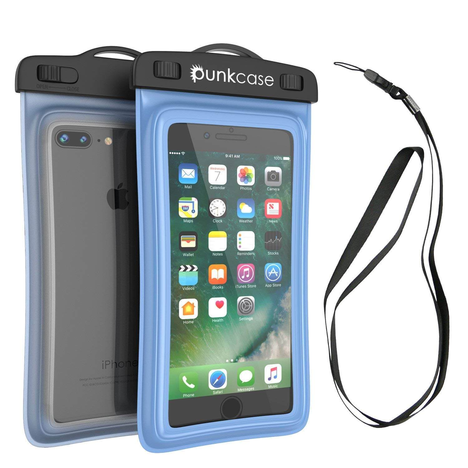 Waterproof Phone Pouch, PunkBag Universal Floating Dry Case Bag for most Cell Phones [Blue]