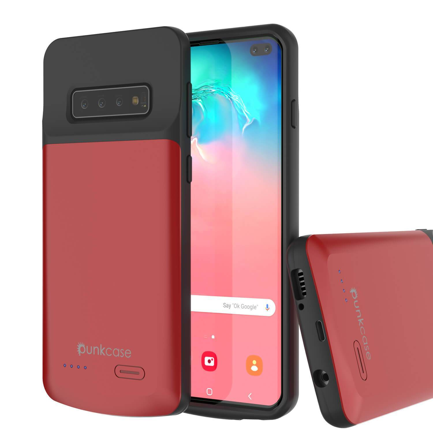 PunkJuice S10+ Plus Battery Case Red - Fast Charging Power Juice Bank with 5000mAh