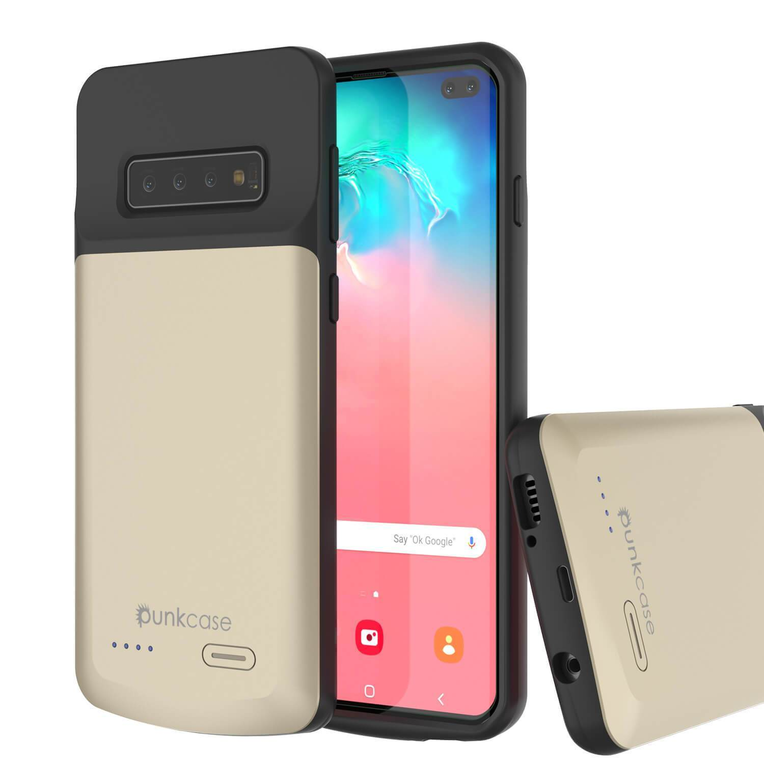 PunkJuice S10+ Plus Battery Case Gold - Fast Charging Power Juice Bank with 5000mAh