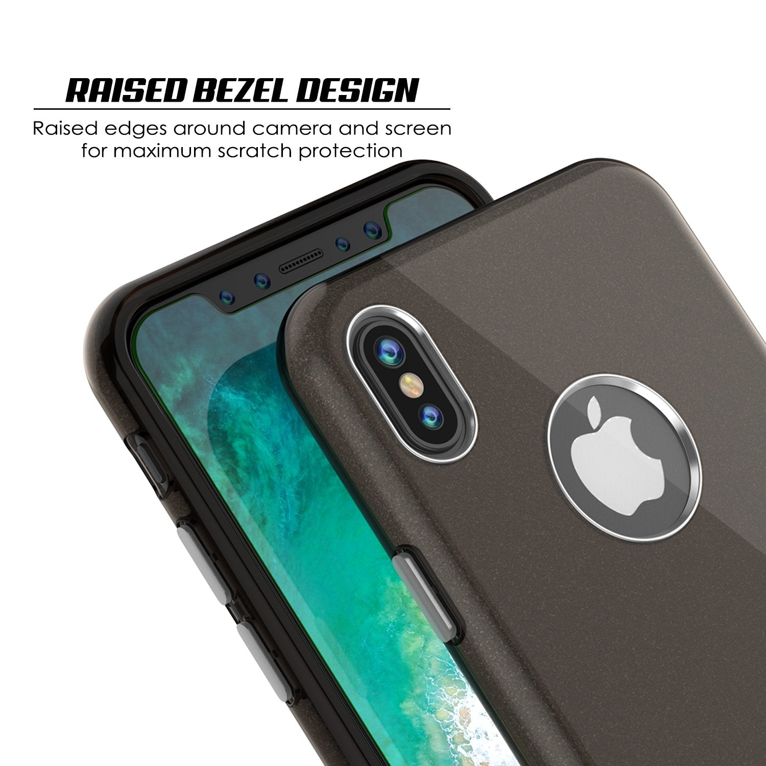 iPhone X Case, Punkcase Galactic 2.0 Series Ultra Slim w/ Tempered Glass Screen Protector | [Black/Grey] - PunkCase NZ