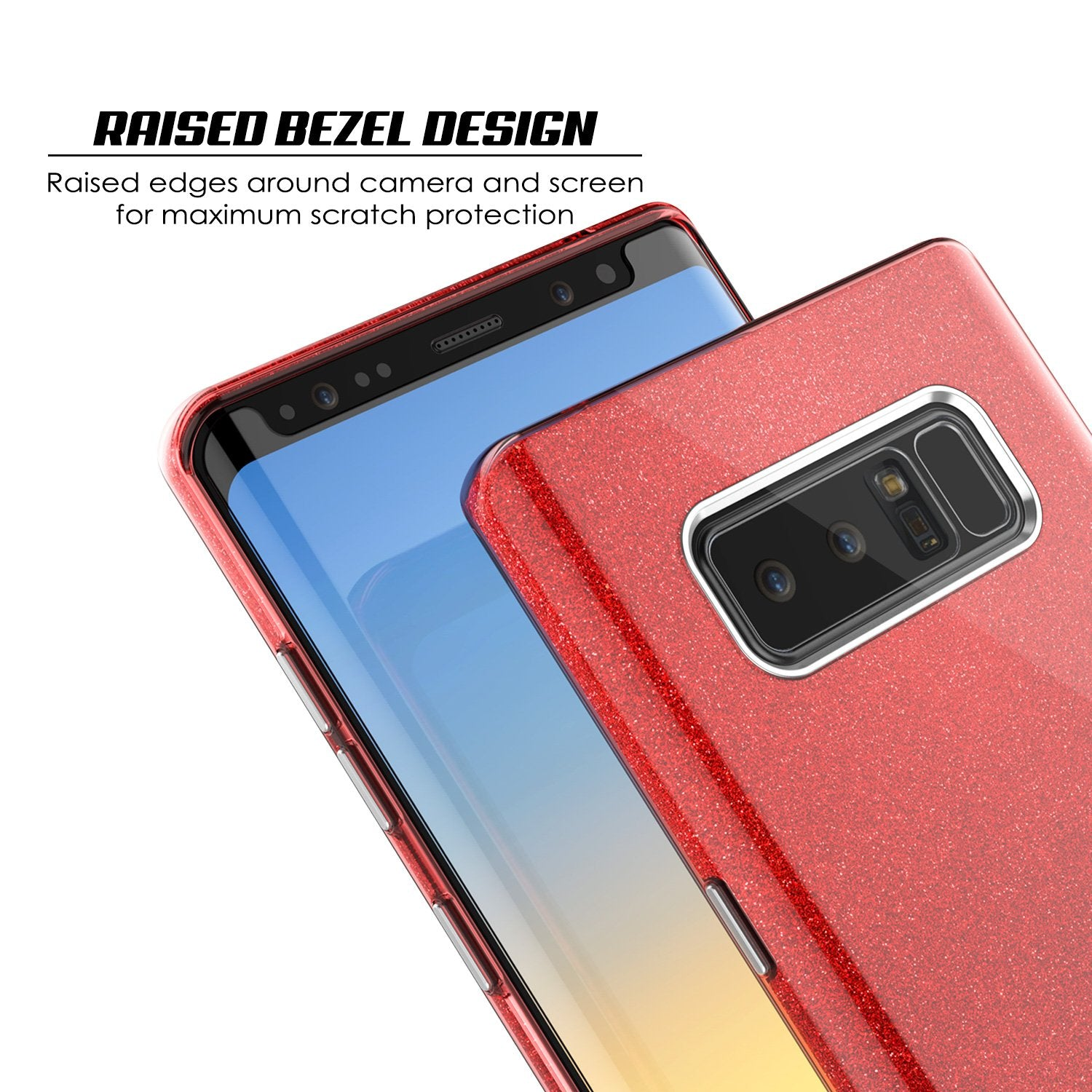 Galaxy Note 8 Case, Punkcase Galactic 2.0 Series Ultra Slim Protective Armor [Red] - PunkCase NZ
