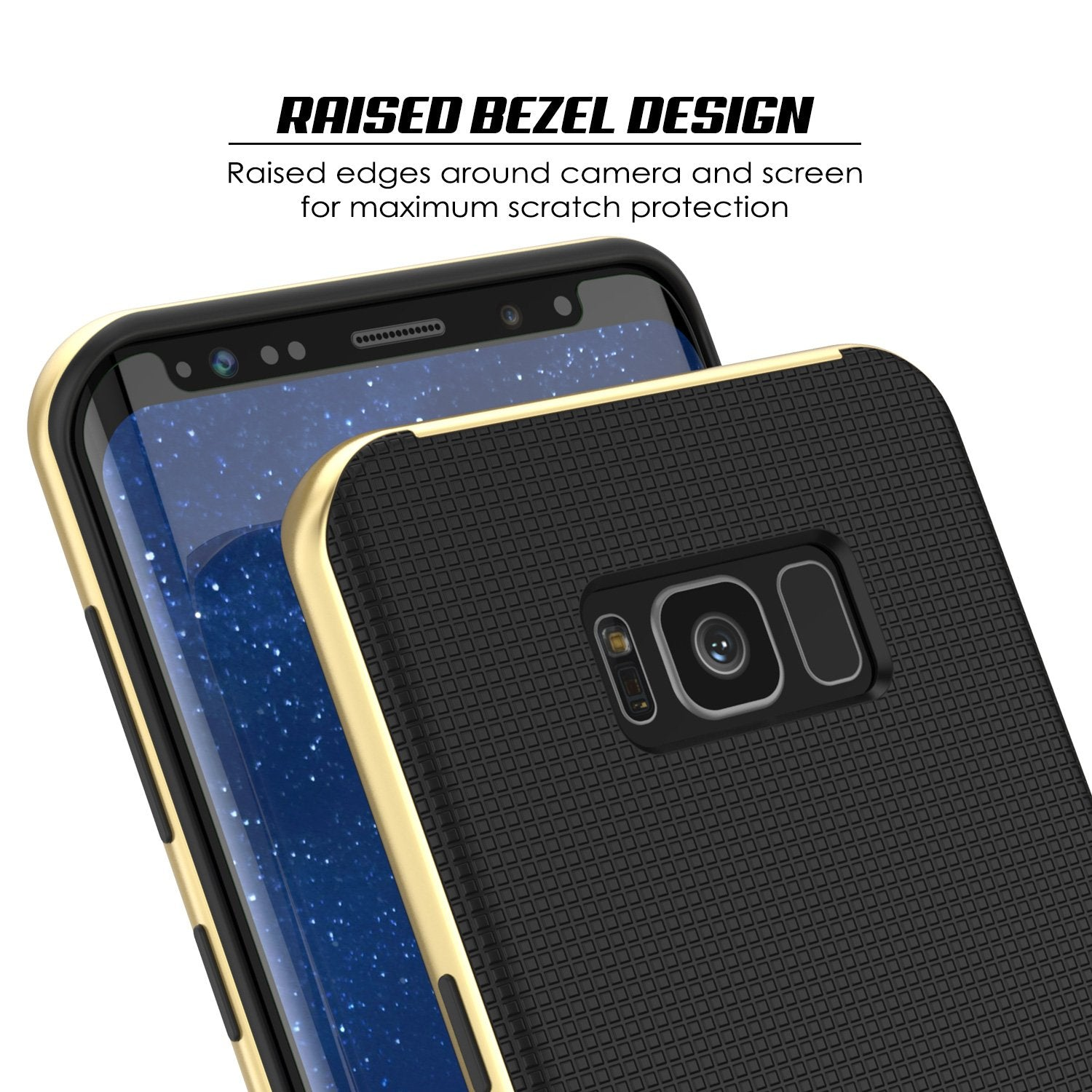 Galaxy S8 PLUS Case, PunkCase [Stealth Series] Hybrid 3-Piece Shockproof Dual Layer Cover [Non-Slip] [Soft TPU + PC Bumper] with PUNKSHIELD Screen Protector for Samsung S8+ [Gold] - PunkCase NZ
