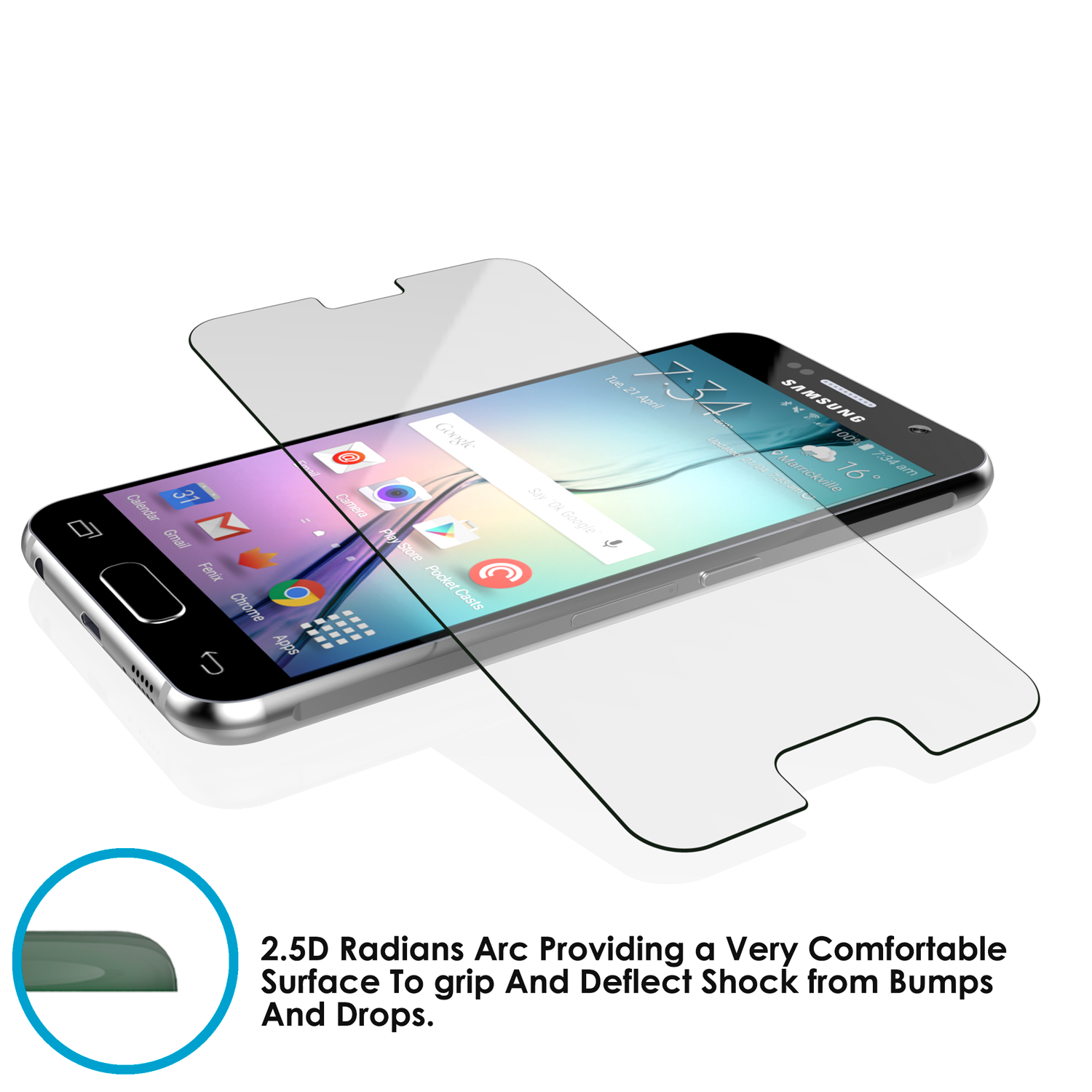 Galaxy s5 Punkcase Glass SHIELD Tempered Glass Screen Protector 0.33mm Thick 9H Glass Screen - PunkCase NZ