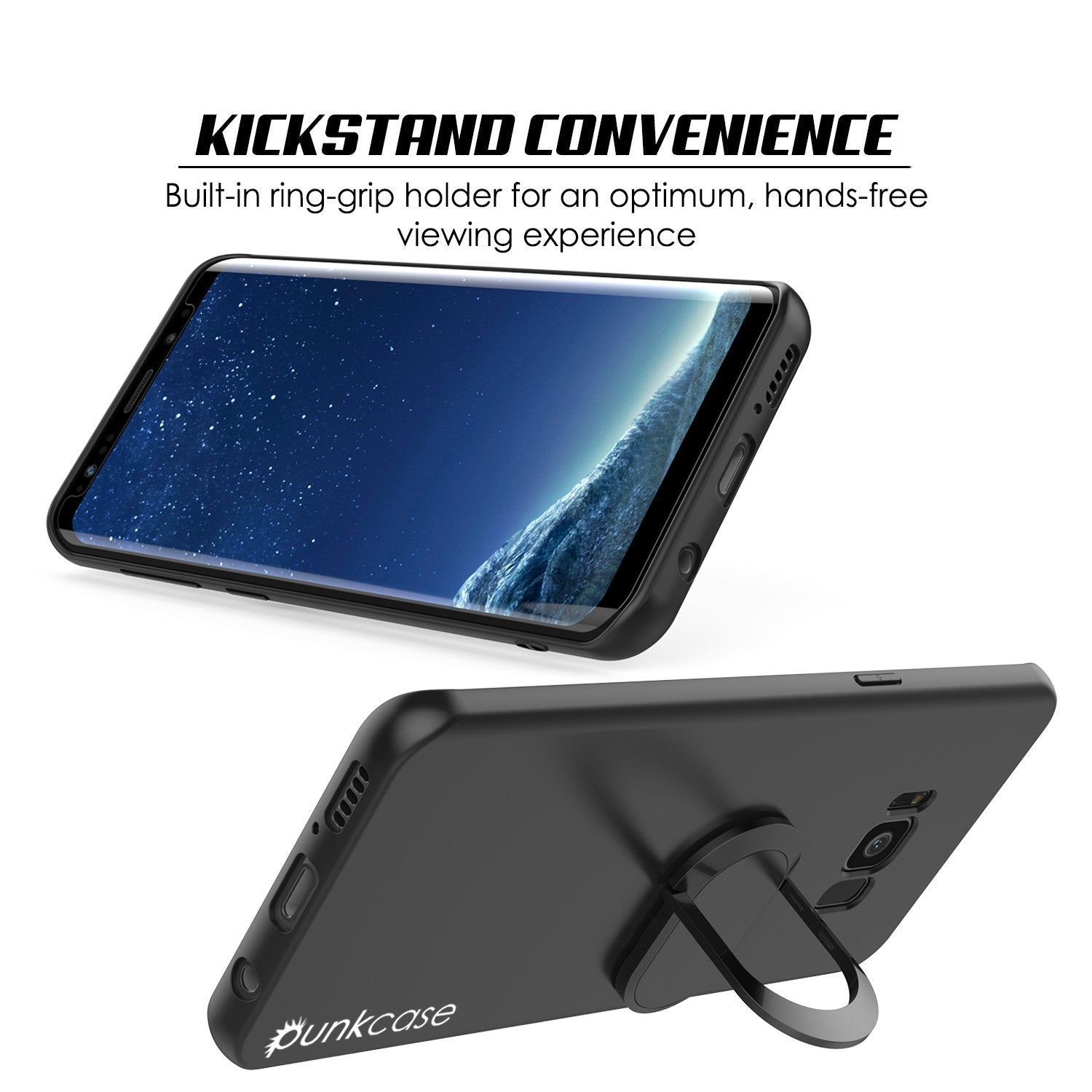 Galaxy S8 PLUS, Punkcase Magnetix Protective TPU Cover W/ Kickstand, Screen Protector [Black] - PunkCase NZ