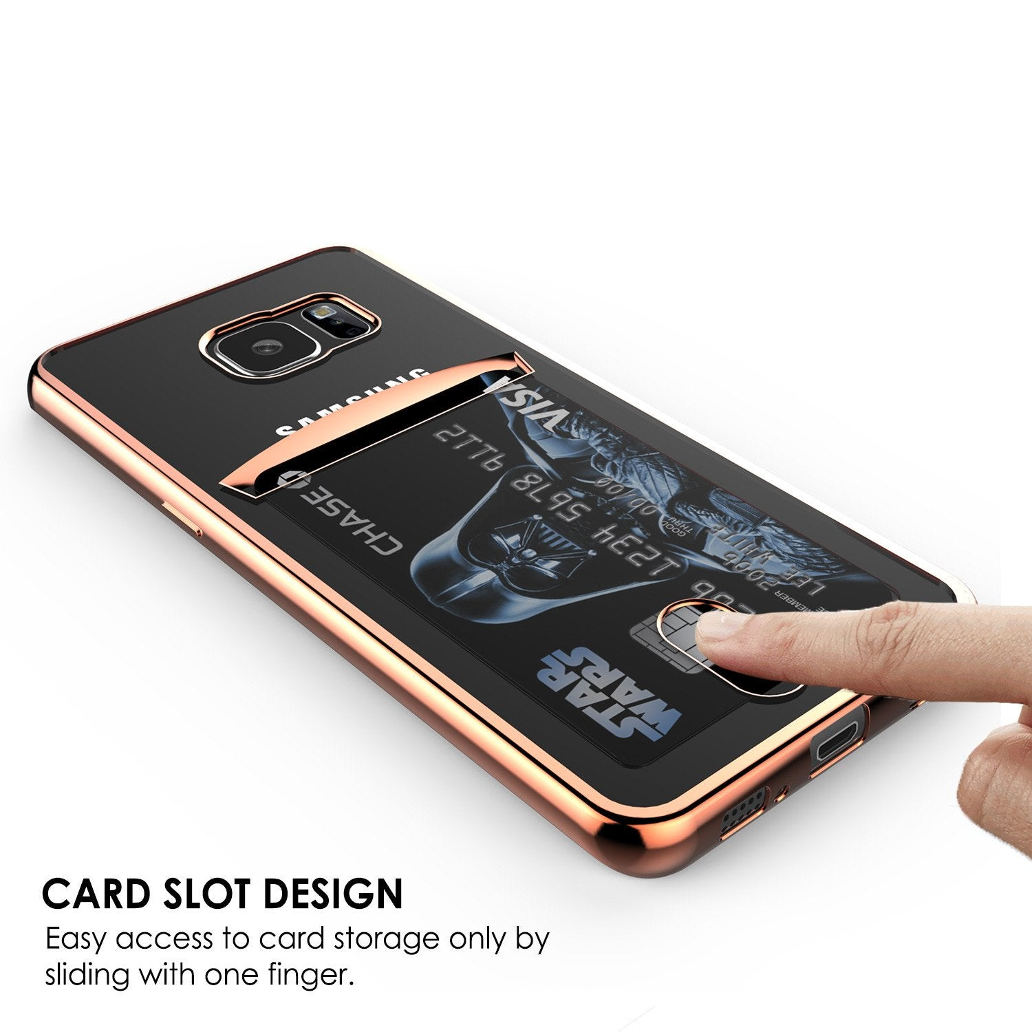 Galaxy S6 EDGE Case, PUNKCASE® LUCID Rose Gold Series | Card Slot | SHIELD Screen Protector - PunkCase NZ