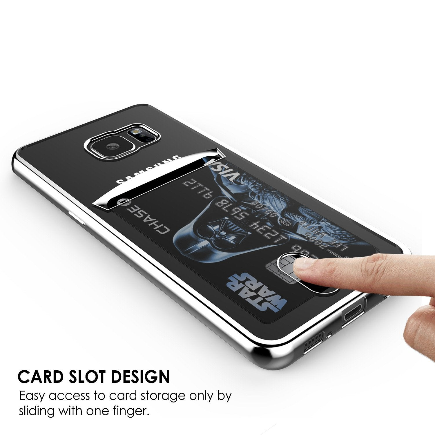 Galaxy S6 Case, PUNKCASE® LUCID Silver Series | Card Slot | SHIELD Screen Protector | Ultra fit - PunkCase NZ