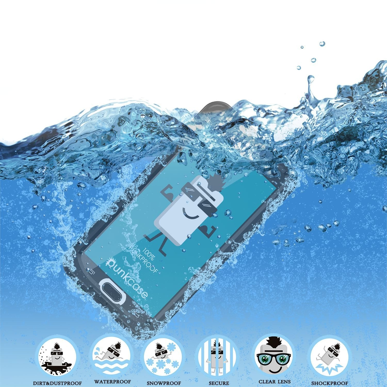 Galaxy Note 5 Waterproof Case, Punkcase StudStar Black Shock/Dirt/Snow Proof | Lifetime Warranty - PunkCase NZ
