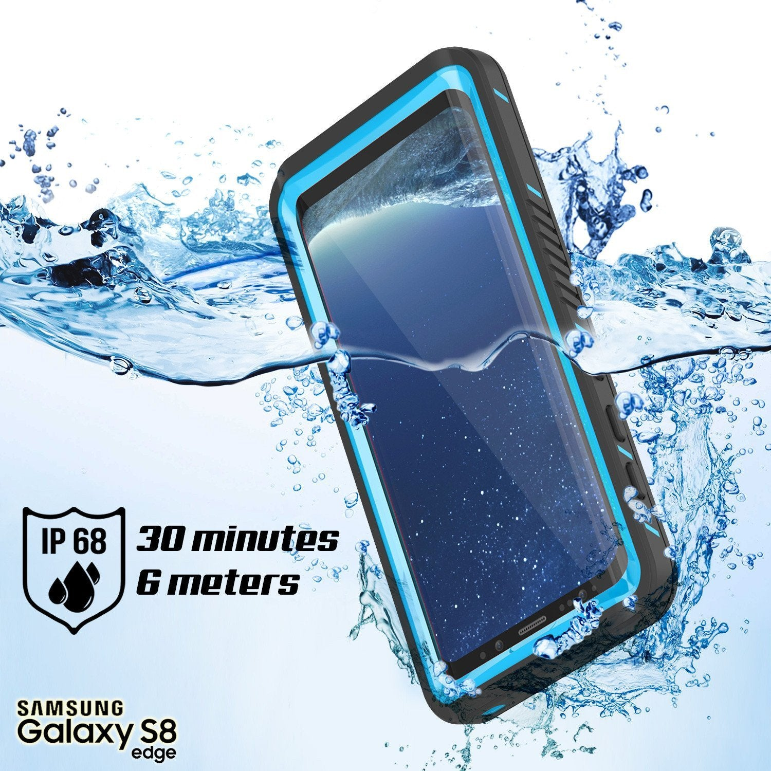 Galaxy S8 Waterproof Case, Punkcase [Extreme Series] [Slim Fit] [IP68 Certified] [Shockproof] [Snowproof] [Dirproof] Armor Cover [Light Blue] - PunkCase NZ