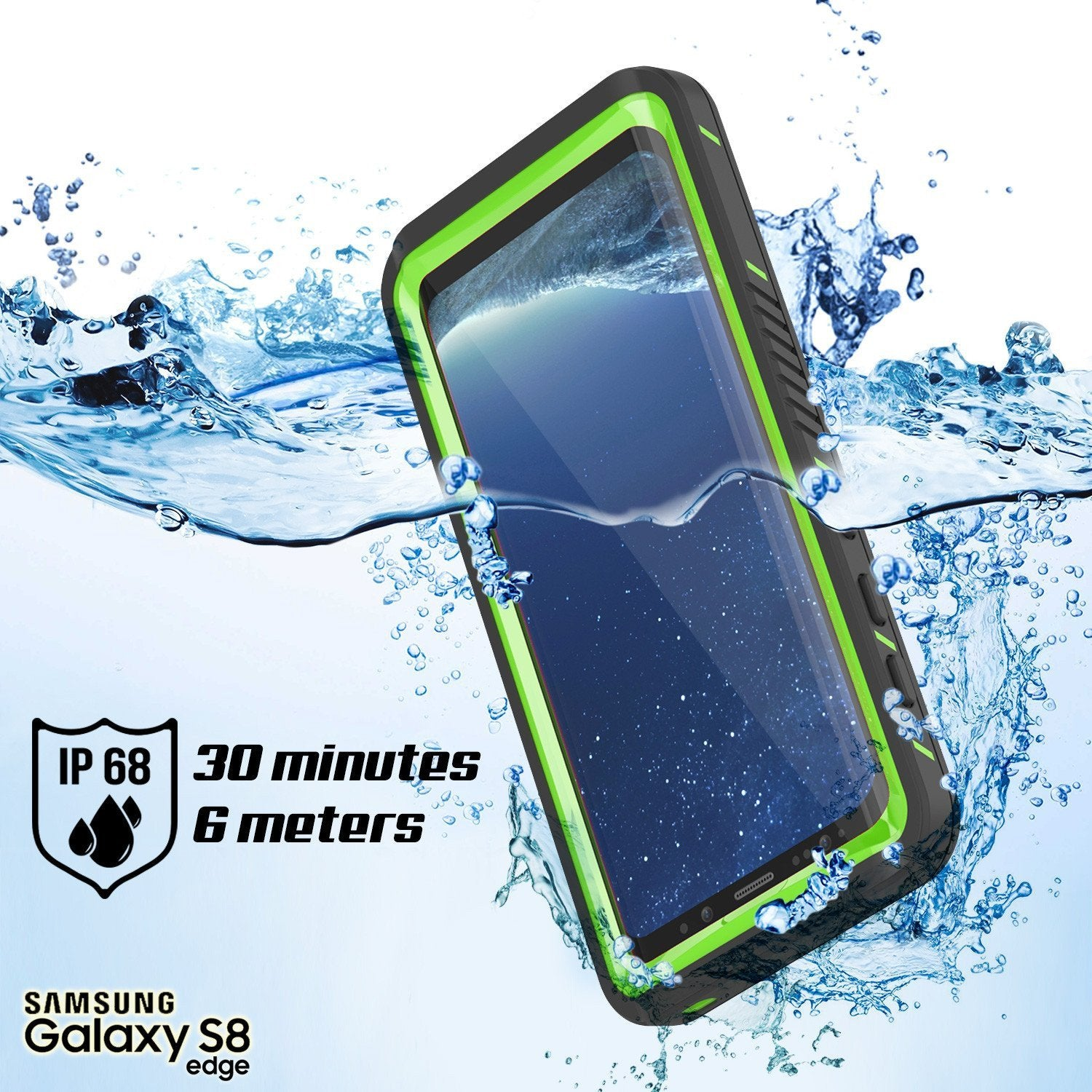 Galaxy S8 Waterproof Case, Punkcase [Extreme Series] [Slim Fit] [IP68 Certified] [Shockproof] [Snowproof] [Dirproof] Armor Cover W/ Built In Screen Protector for Samsung Galaxy S8 [Green] - PunkCase NZ