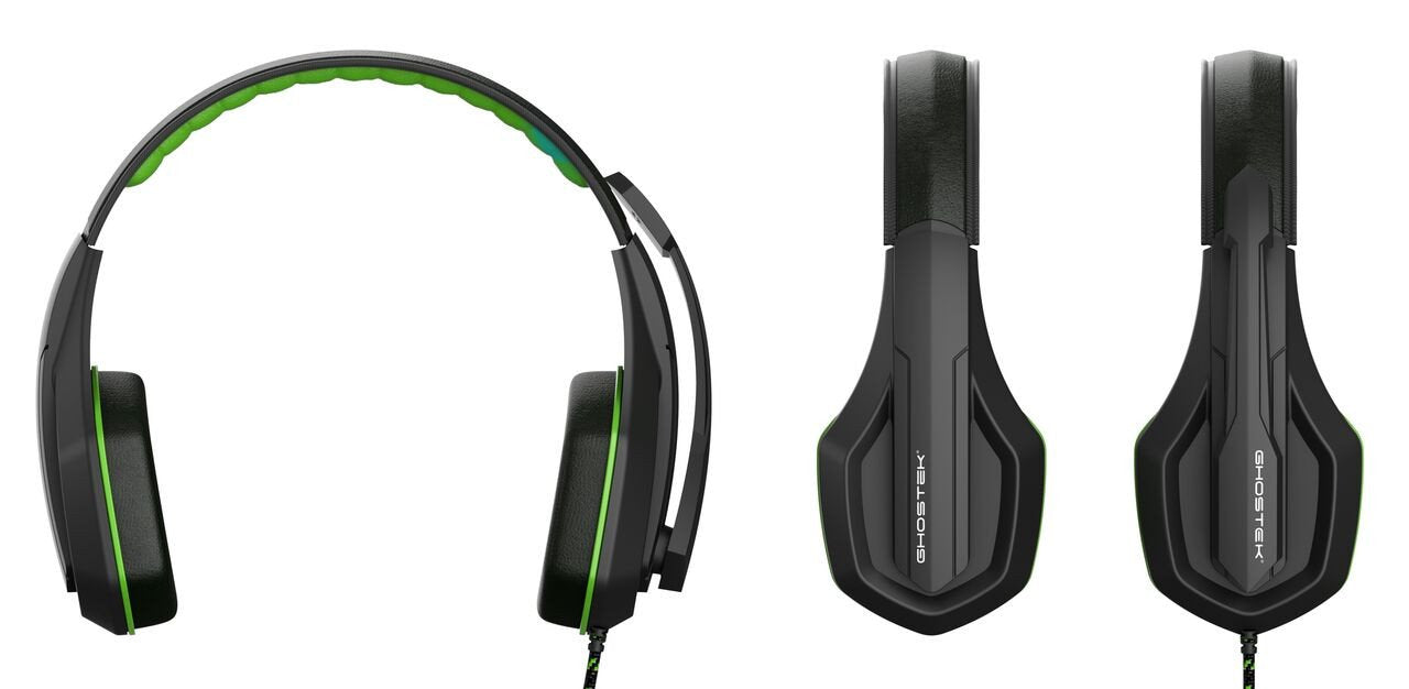 GHOSTEK® GAMING HEADPHONES | HERO SERIES | GREEN | PUNKCASE - PunkCase NZ
