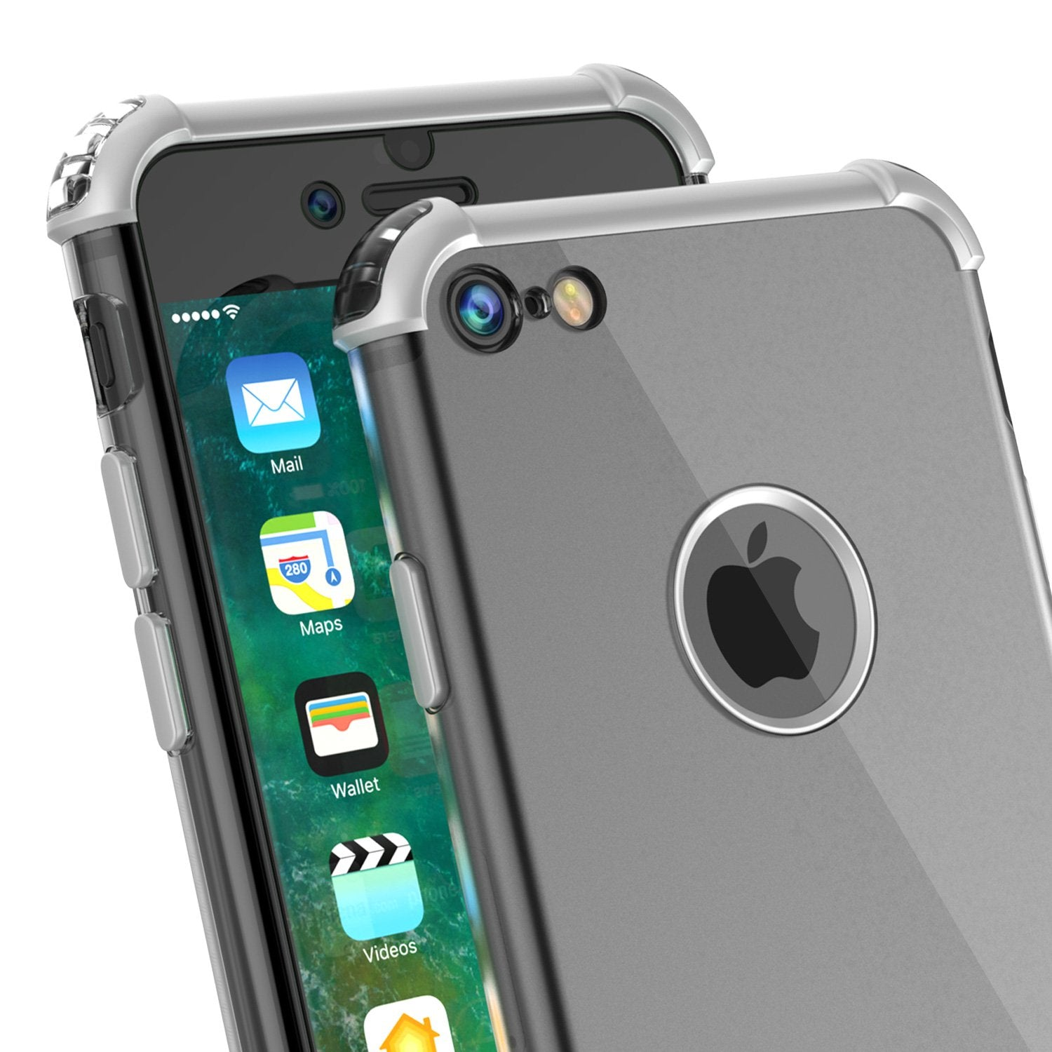 iPhone 8 Case, Punkcase [BLAZE SERIES] Protective Cover W/ PunkShield Screen Protector [Shockproof] [Slim Fit] for Apple iPhone [Silver] - PunkCase NZ
