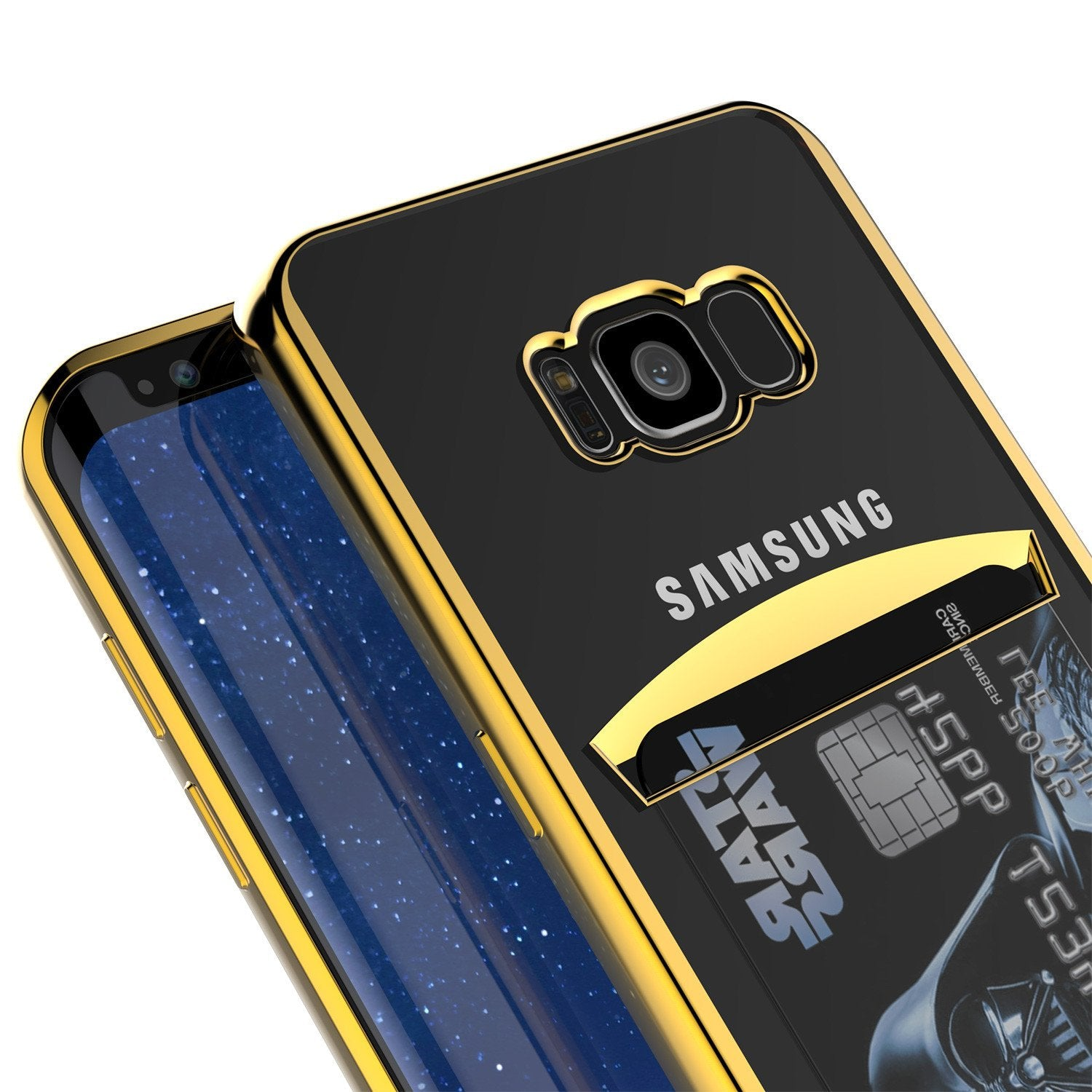 Galaxy S8 Case, PUNKCASE® LUCID Gold Series | Card Slot | SHIELD Screen Protector | Ultra fit - PunkCase NZ