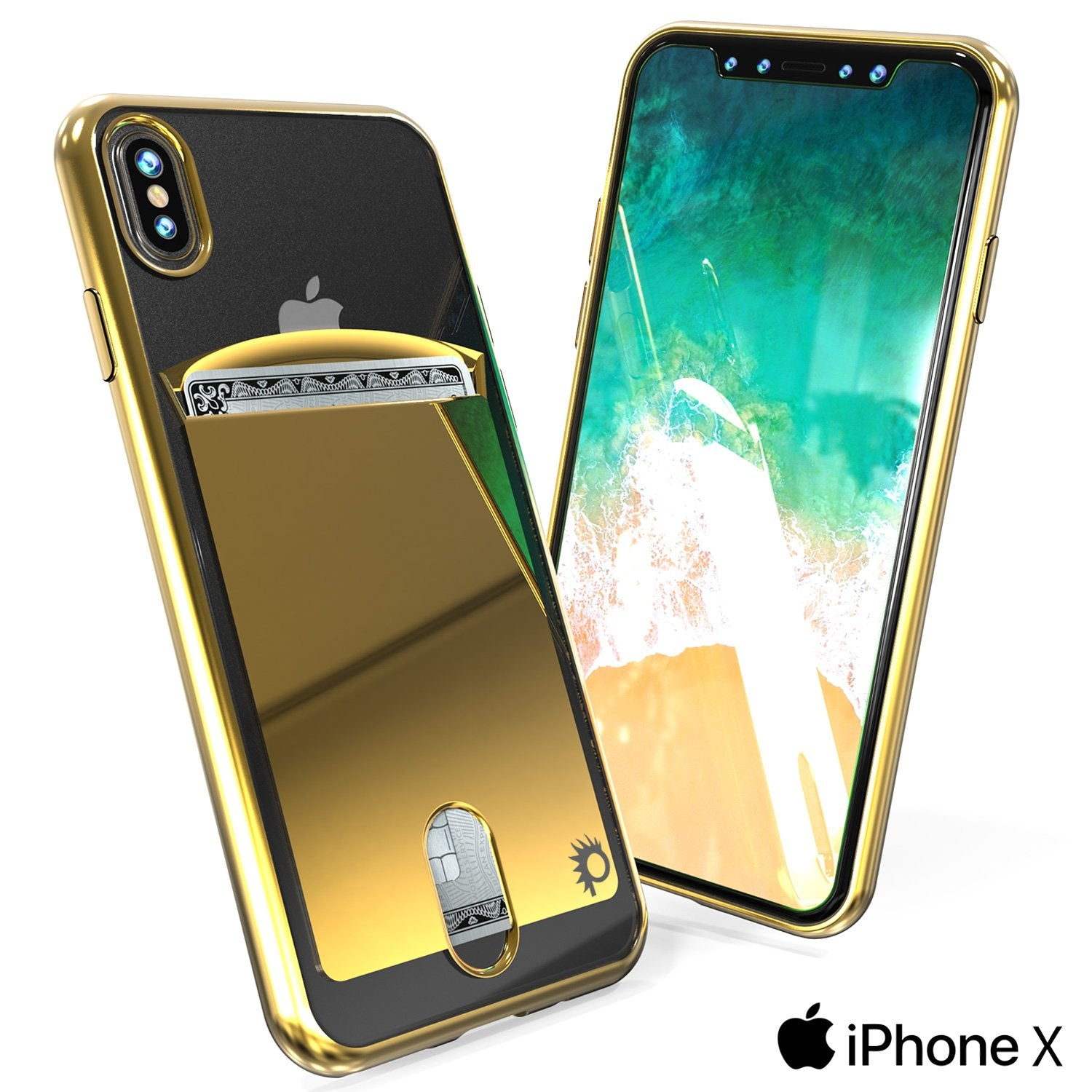 iPhone X Case, PUNKcase [LUCID Series] Slim Fit Protective Dual Layer Armor Cover [Gold] - PunkCase NZ